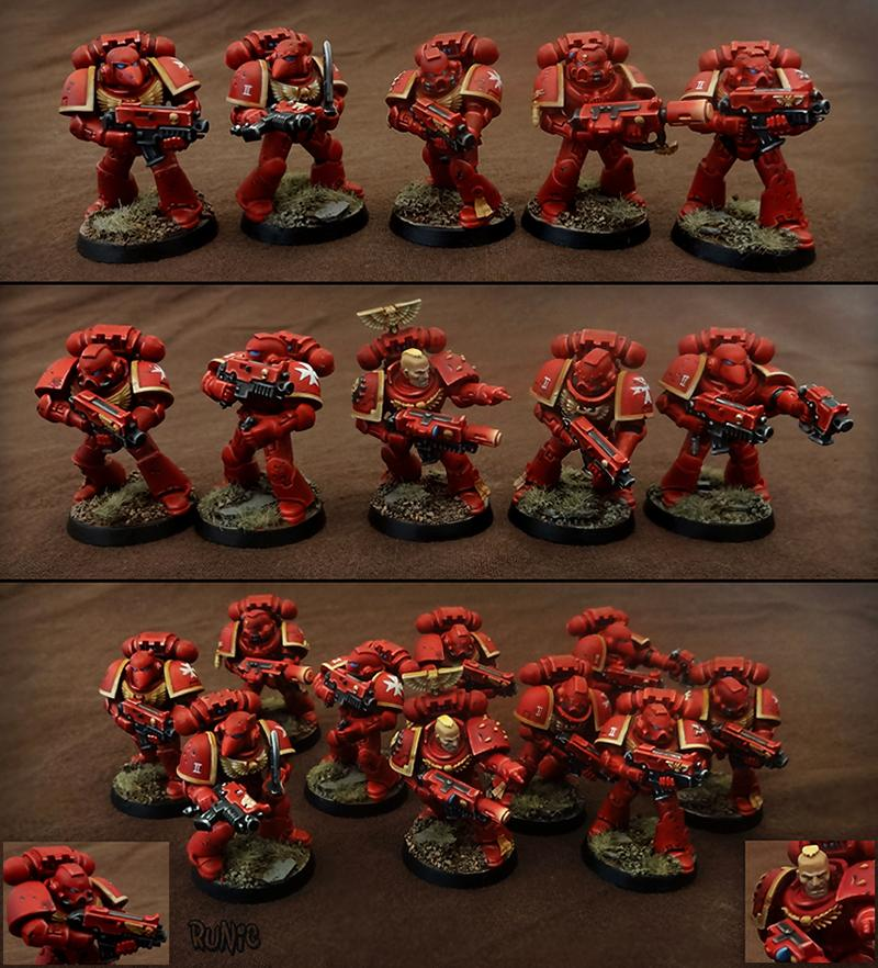 Bolter, Meltagun, Non-Metallic Metal, Red, Seraph, Seraphim, Squad, Tactical
