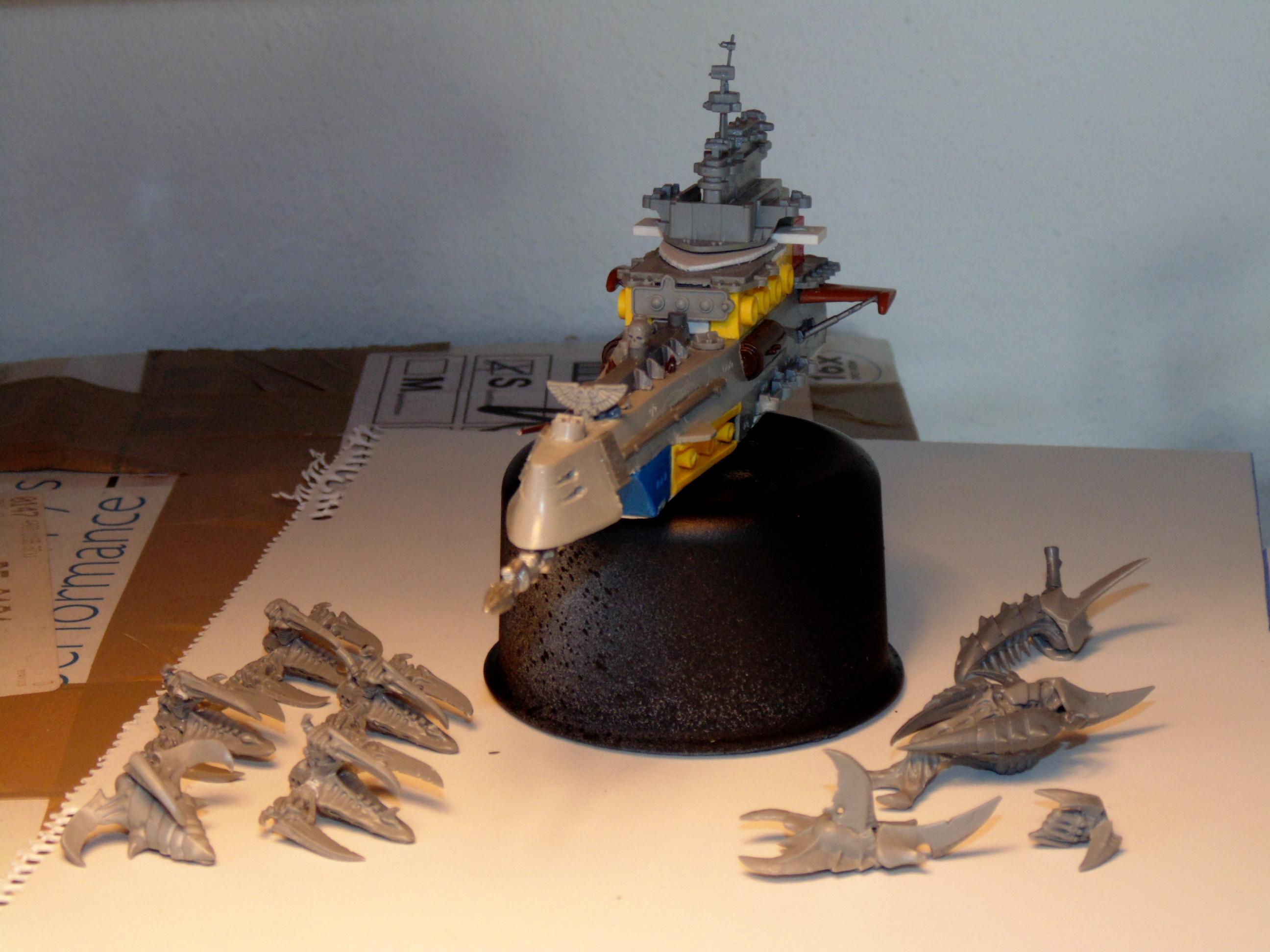 Battlefleet, Battleship, Conversion, Drone, Escort, Fleet, Gothic, Hive, Imperial, Kraken, Mothership, Scratch, Scratch Build, Ship, Ships, Tyranids, Vanguard