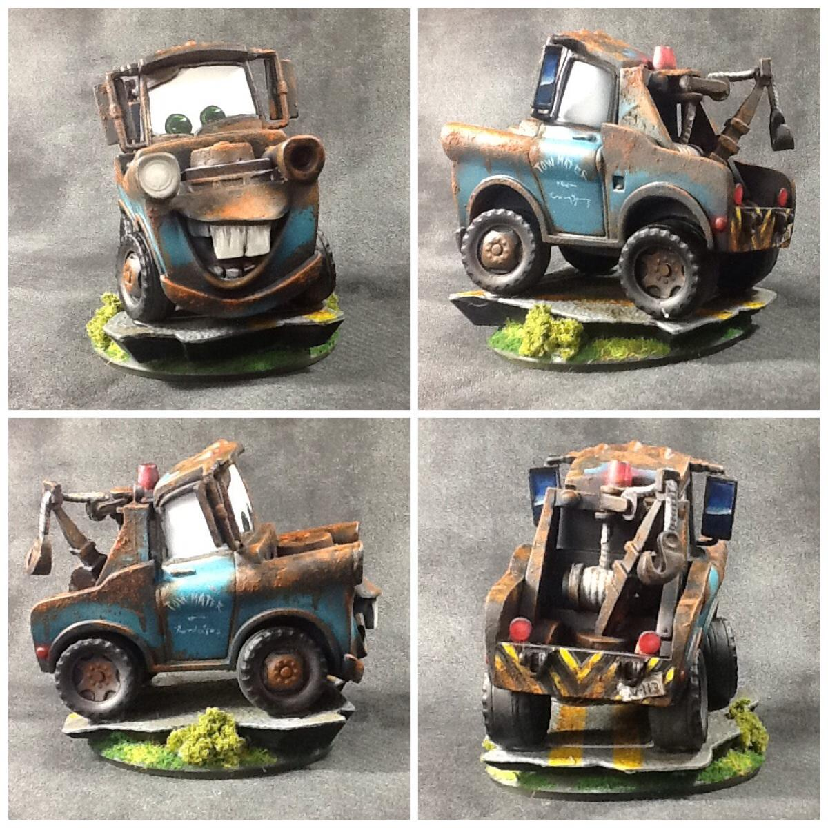 40k Land Speeder, Cars, Disney, Hand, Infinity, Painted, Tow Mater