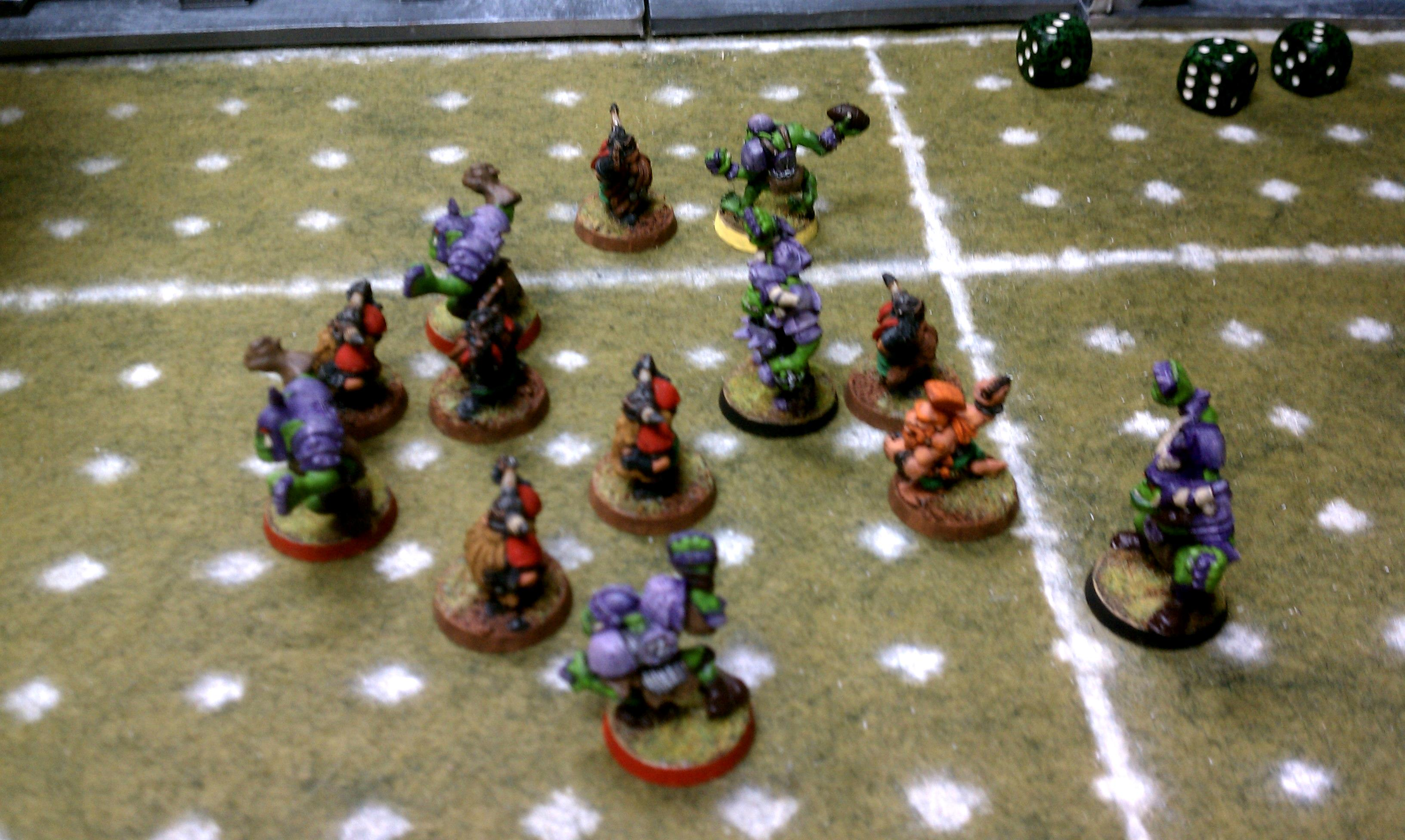 Blood Bowl, Dwarves, Fields, Games, Homemade, Orcs, Pitches