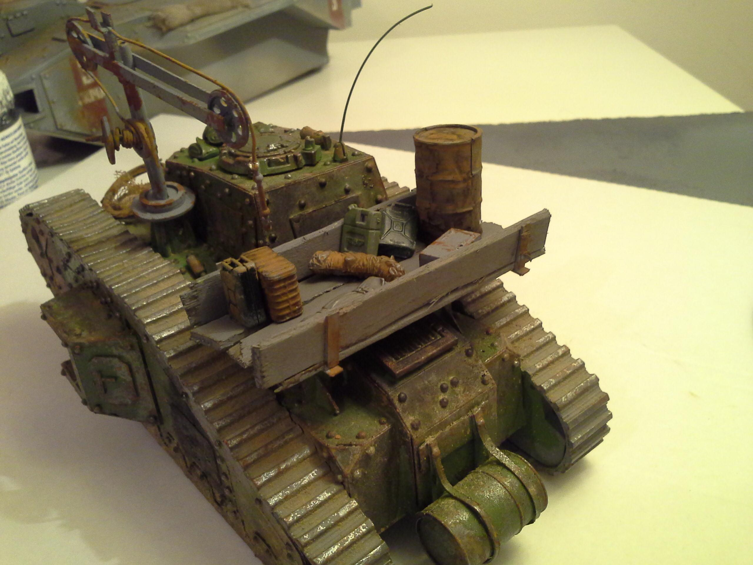 Ancient, Defender, Imperial Guard, Malcador, Rivets, Rust, Scratch Build, Supply, Tank, Weathered