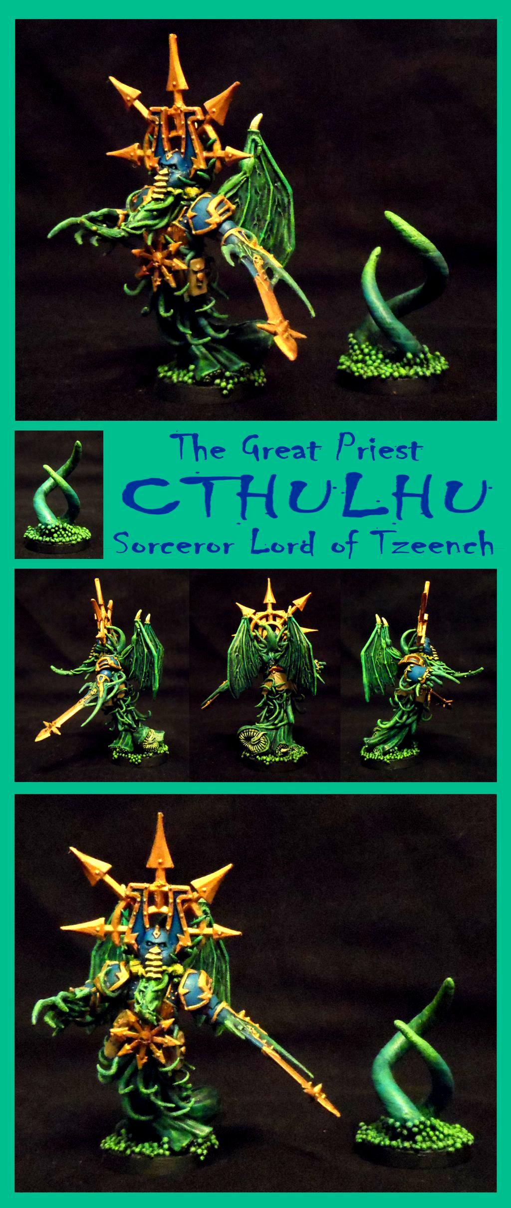 Chaos, Chaos Lord, Chaos Space Marines, Cthulhu, Lovecraft, Possessed, Sorcerer, Warhammer 40,000, Winged