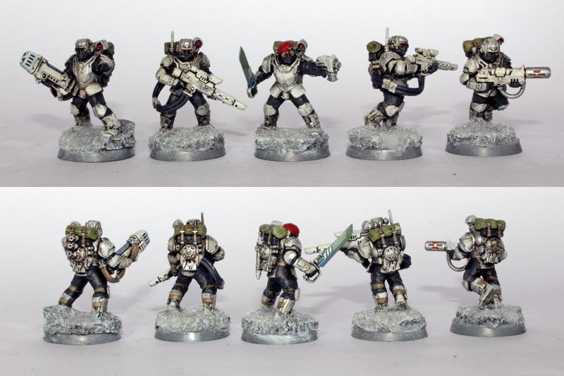 Astra Militarum, Imperial Guard, Militarum Tempestus, Storm Troopers, Tempestus Scions, Warhammer 40,000, Winter