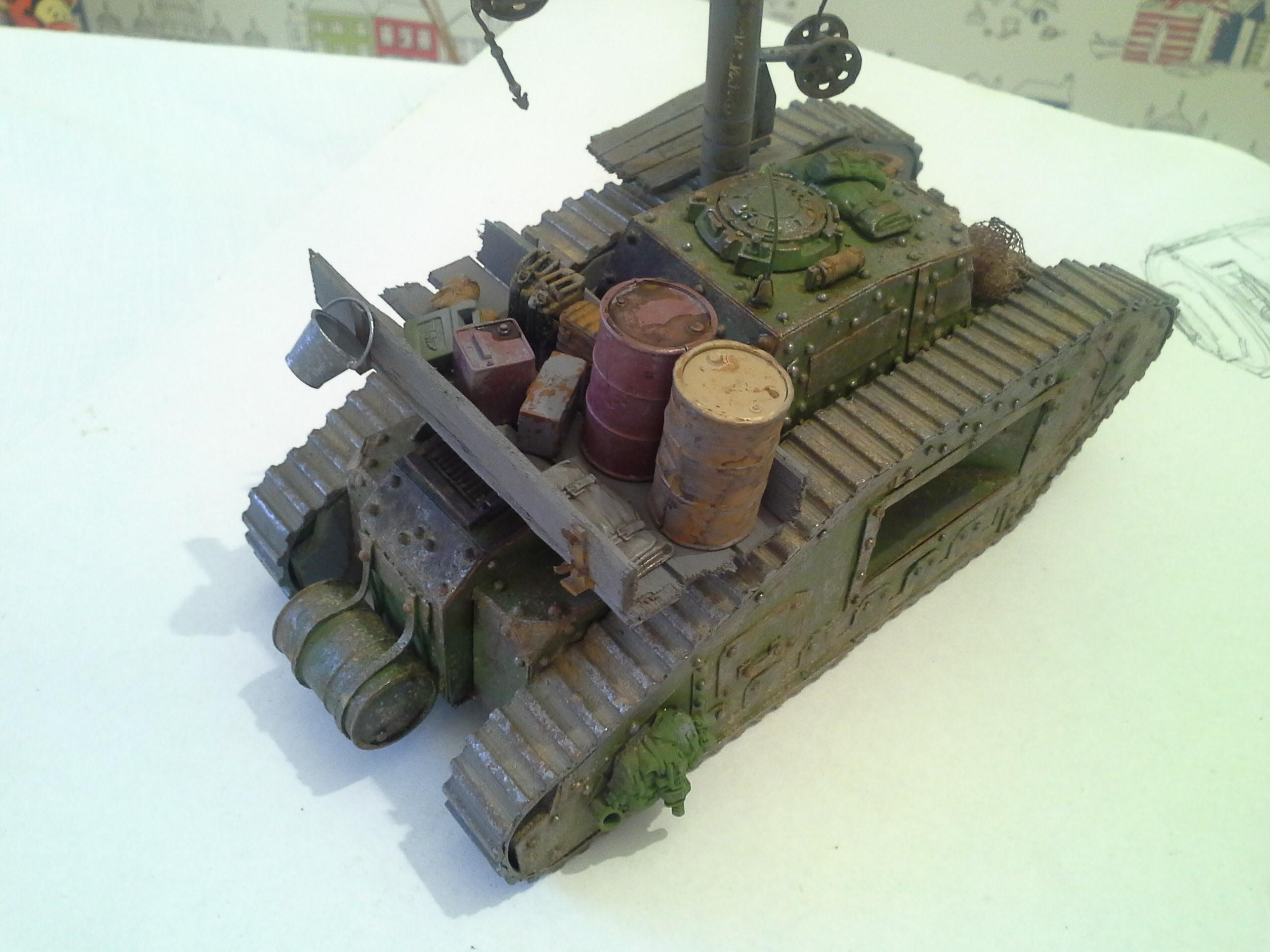Ancient, Damage, Defender, Dirt, Imperial Guard, Malcador, Rivets, Rust, Scratch Build, Supply, Tank, Weathered