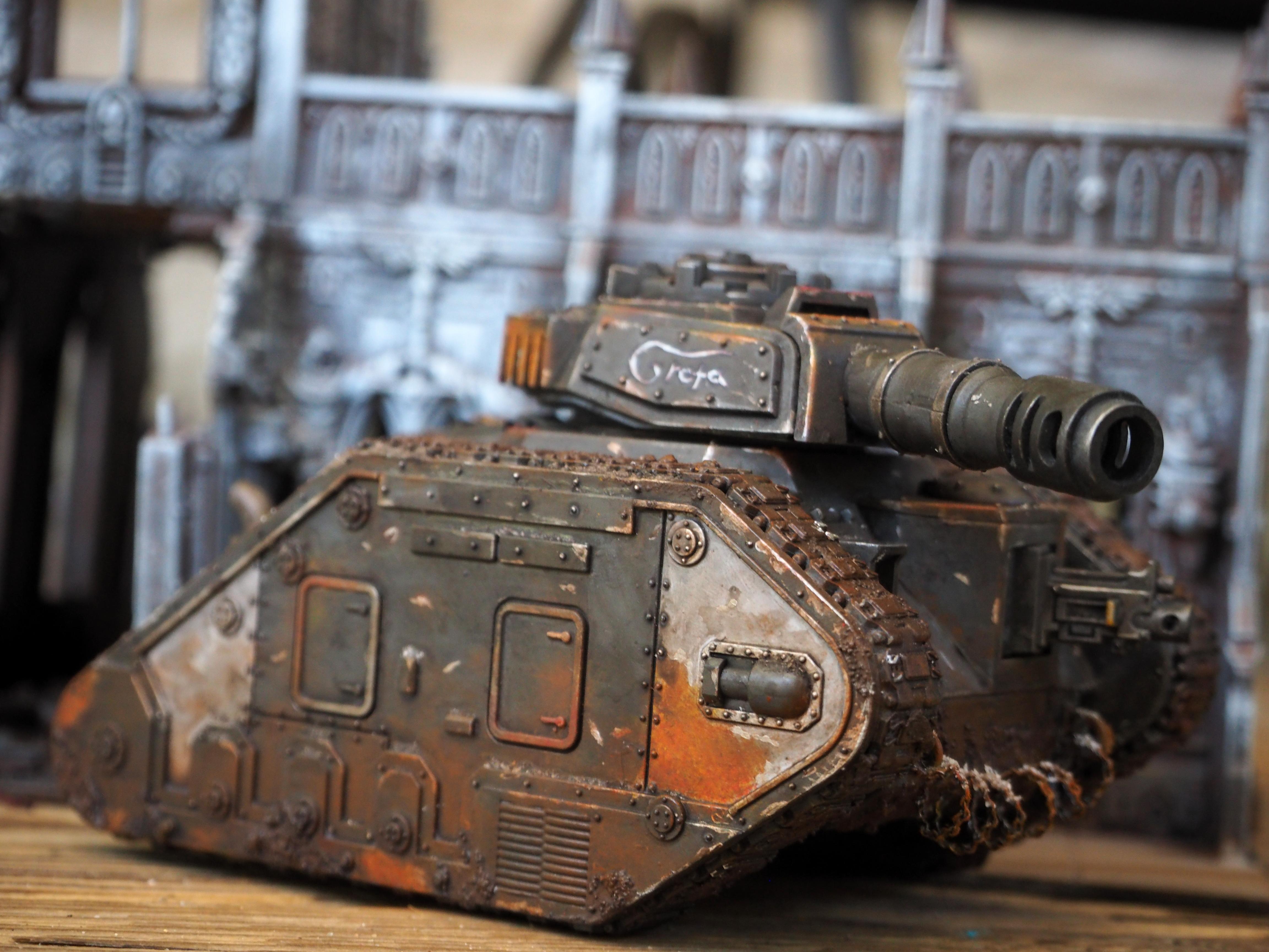 Astra Militarum, Death, Death Korps of Krieg, Imperial Guard, Korps, Leman, Russ, Rusty, Tank, Weathered