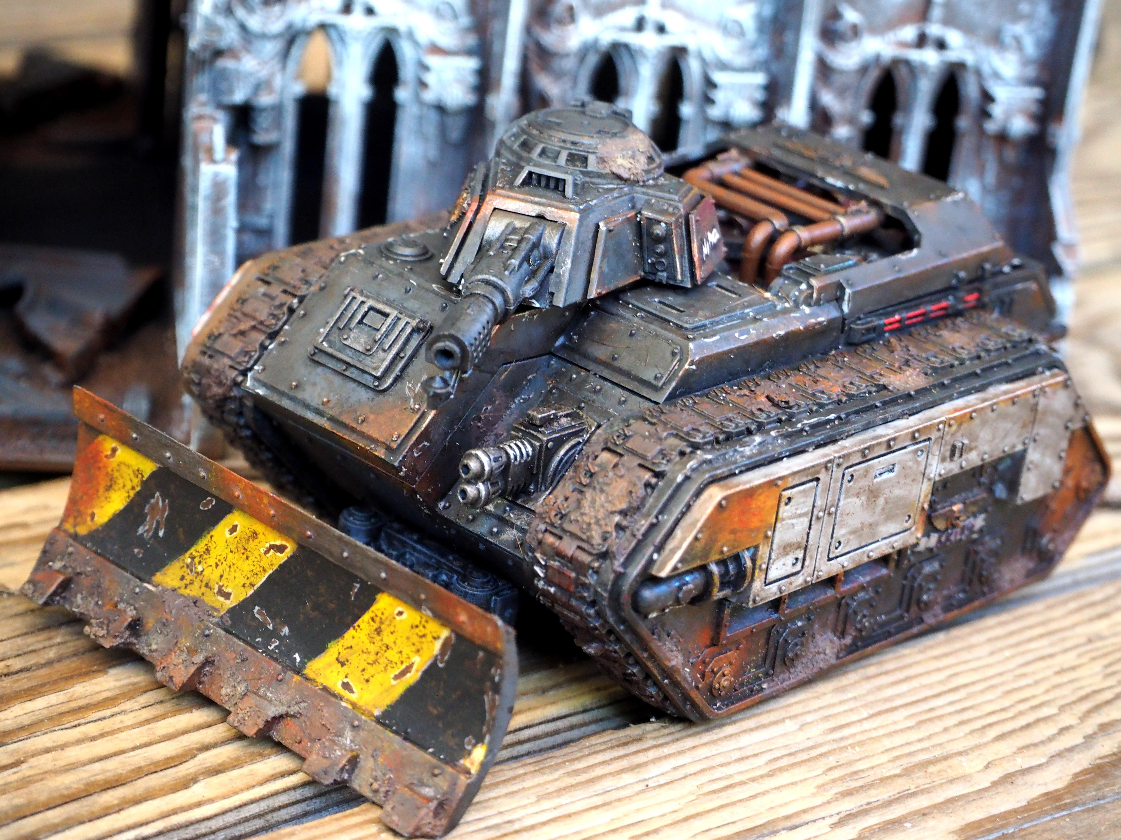 Astra Militarum, Death, Death Korps of Krieg, Hell Hound, Imperial Guard, Korps, Rusty, Tank, Warhammer 40,000, Weathered