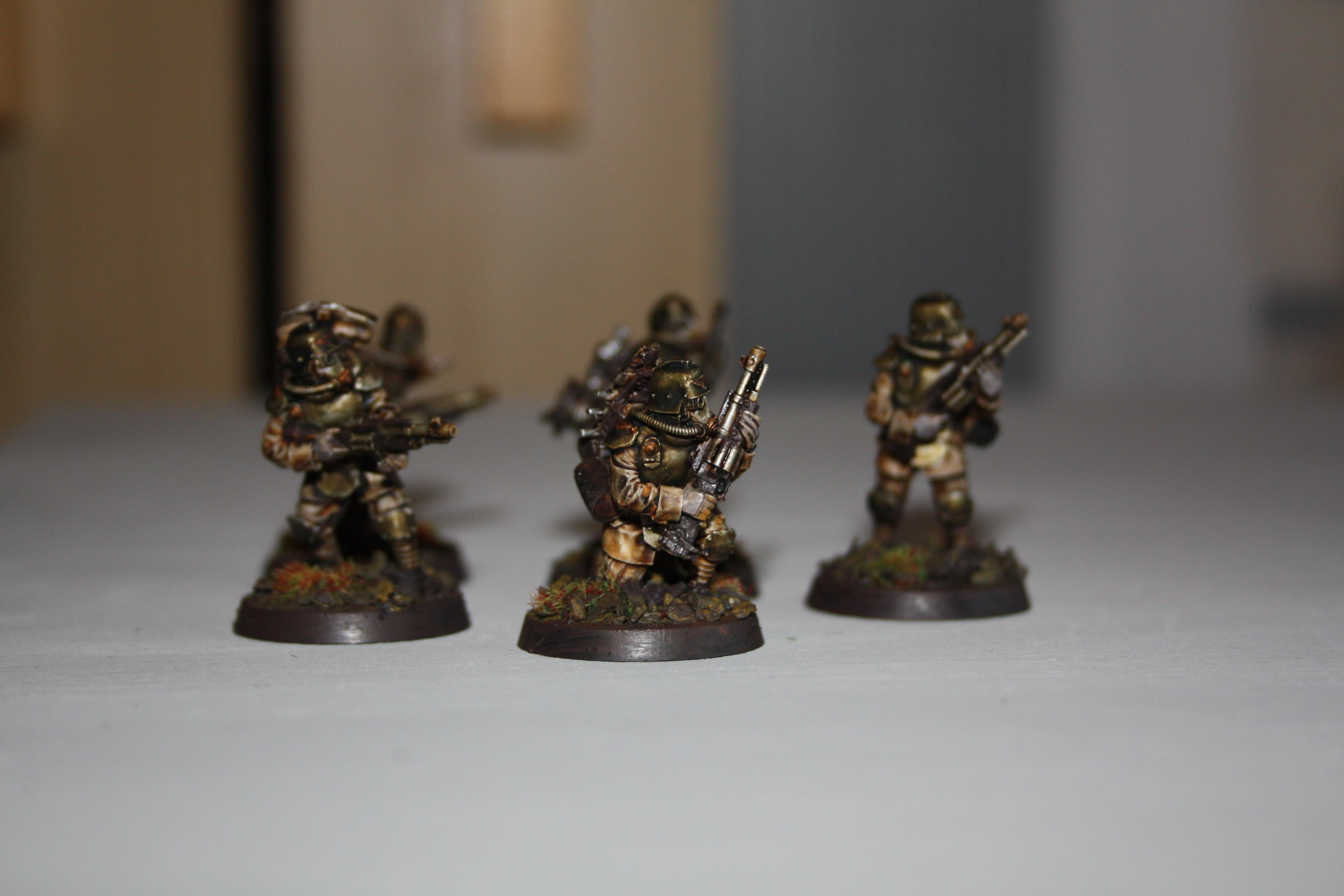 Death Korps of Krieg, Engineers, Imperial Guard, Kriegers, Shotgunners, Siege Corp