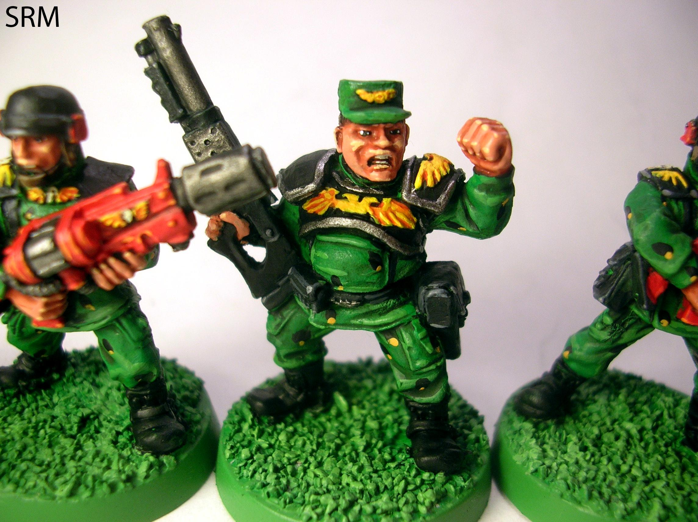 2nd Edition, Cadians, Colonel, Lieutenant, Officer, Out Of Production, Retro, Shotgun
