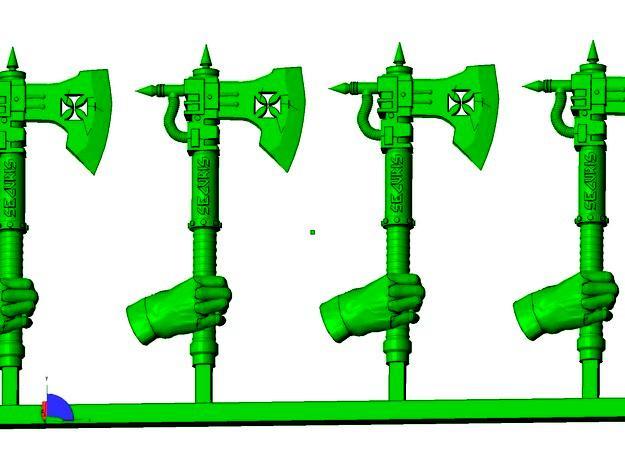 3d, 3d Printer, 3d Render, Axes, Cg, Hth, Melee, Modelling, Power Weapon, Printer, Pw, Shapeways