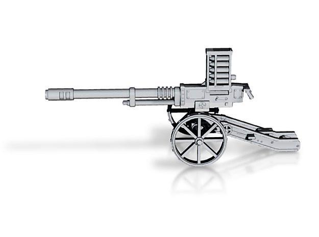 3d, 3d Printer, 3d Render, Autocannon, Cannon, Carriage, Cg, Gun, Heavy Weapon, Modelling, Printer, Shapeways