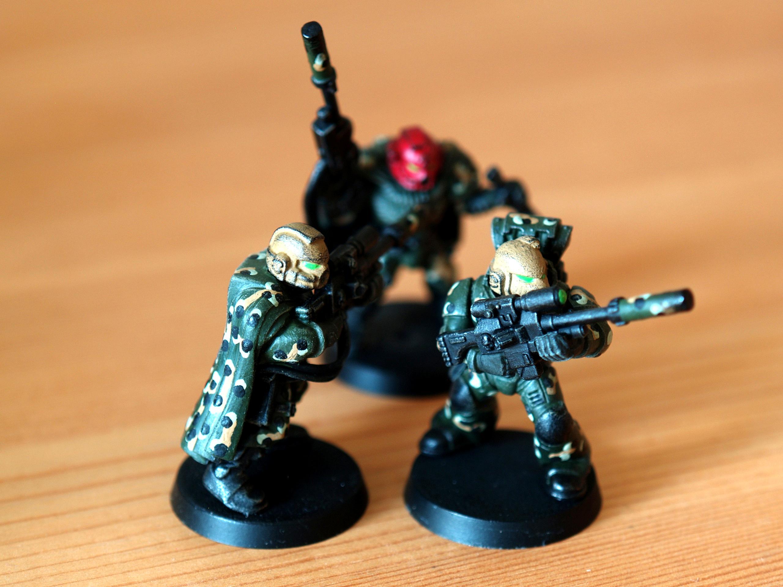 Dark Angels Afrika Korps, Scouts, Snipers, Space Marine Afrika Korps