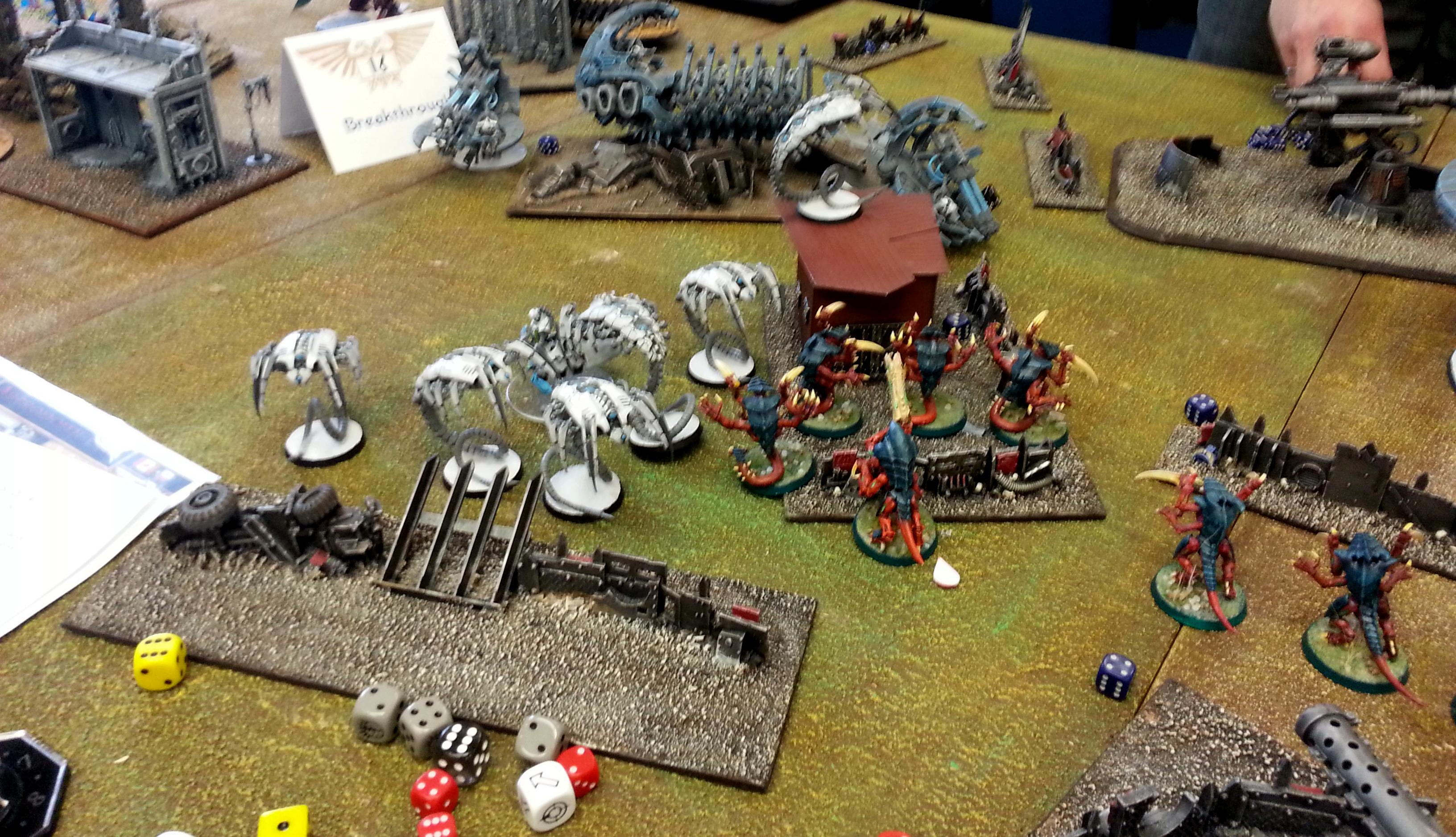 Necrons, Tyranids, Turn 2a Necrons: Wraiths move up