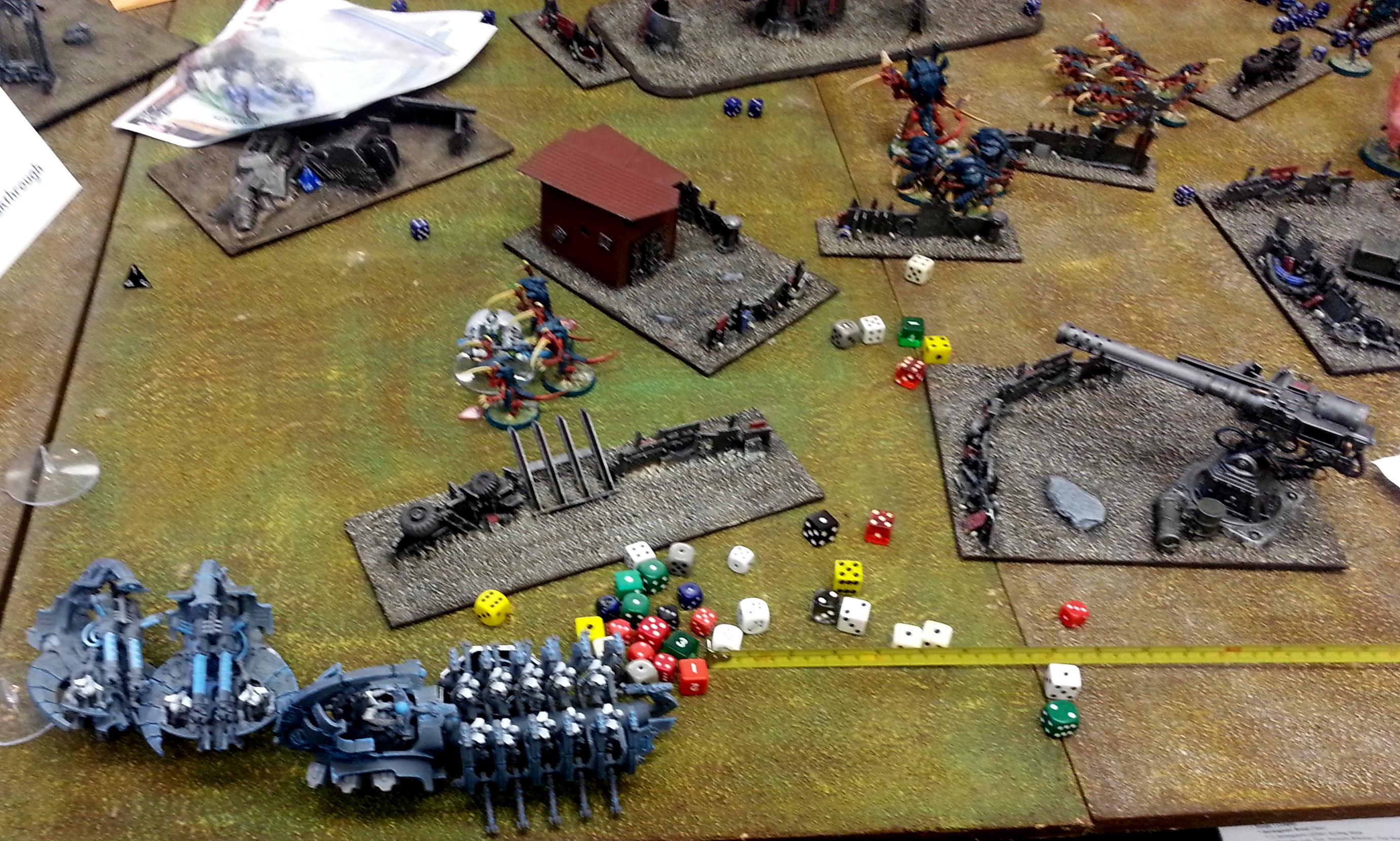Necrons, Tyranids, TUrn 4a Necrons: Barges, Ark leave board