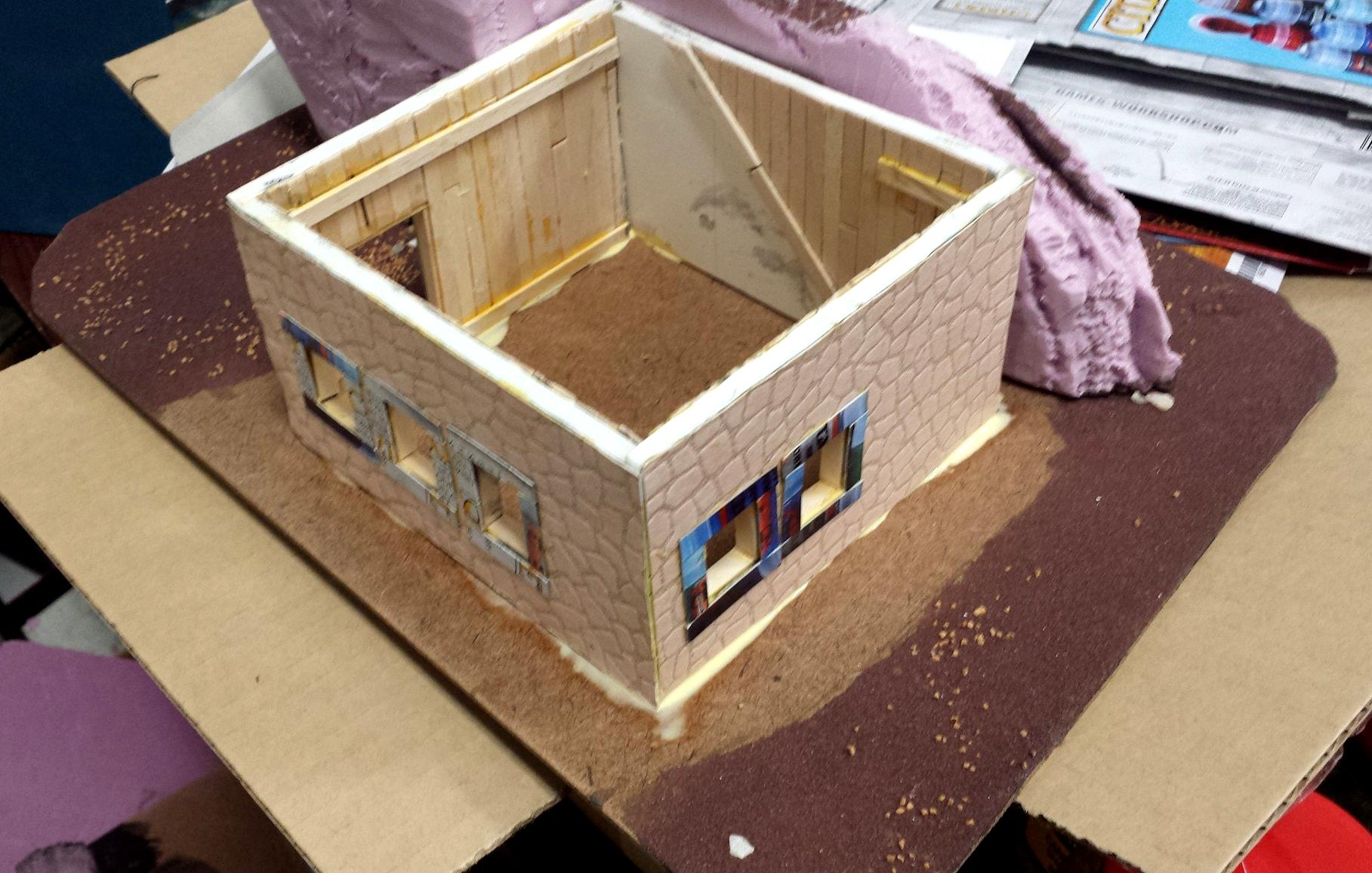 Blue, Commission, Hot Glue, Hotglue, Mesa, Pink, Styrofoam, Terrain, Tutorial, Waaazag, Waazag, Walls, Work In Progress