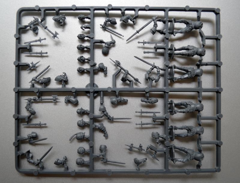 Men-at-arms, Perry, Plastic, Sprue