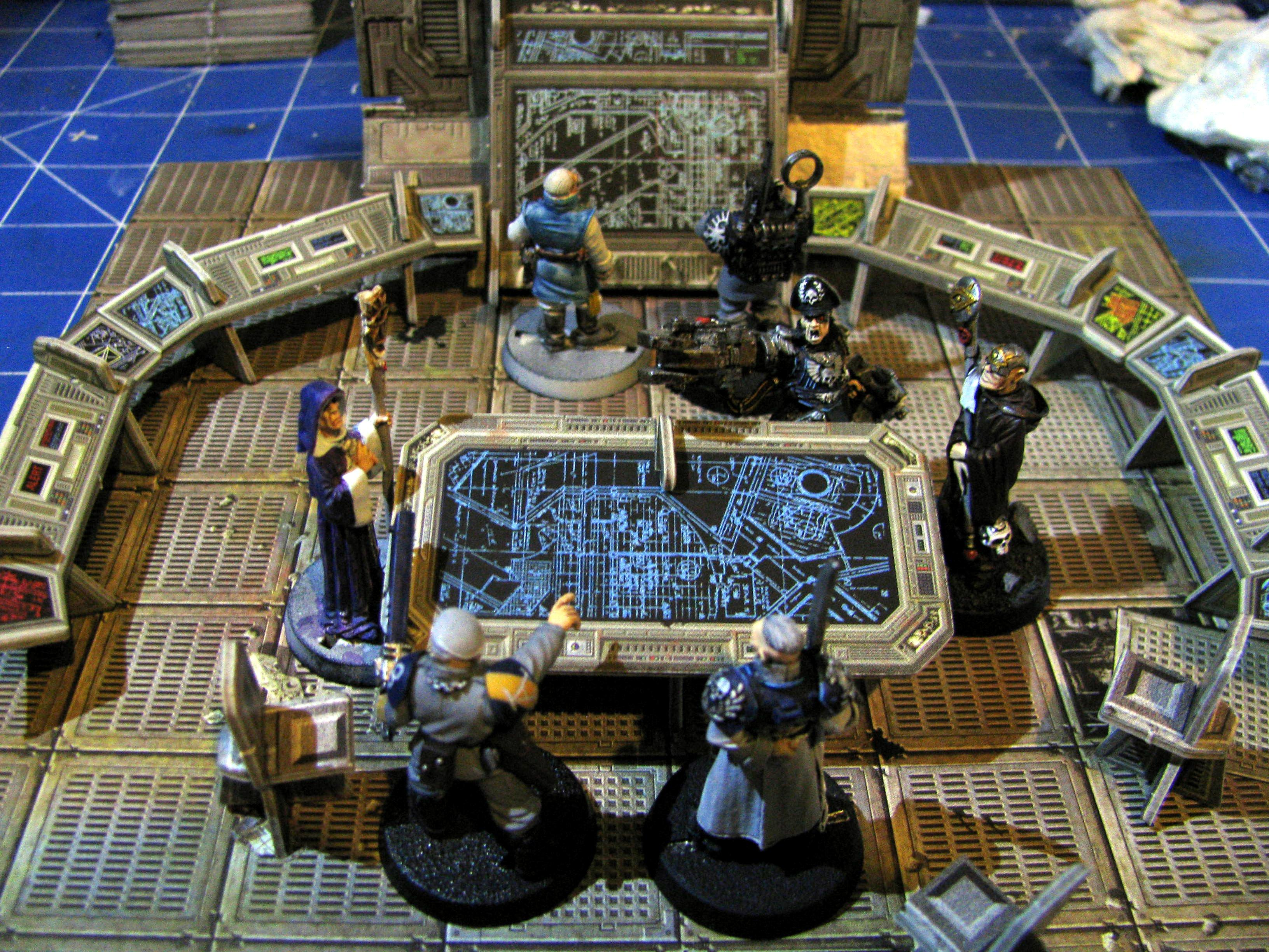 Control Room, Council, Diorama, Imperial Guard, Officers