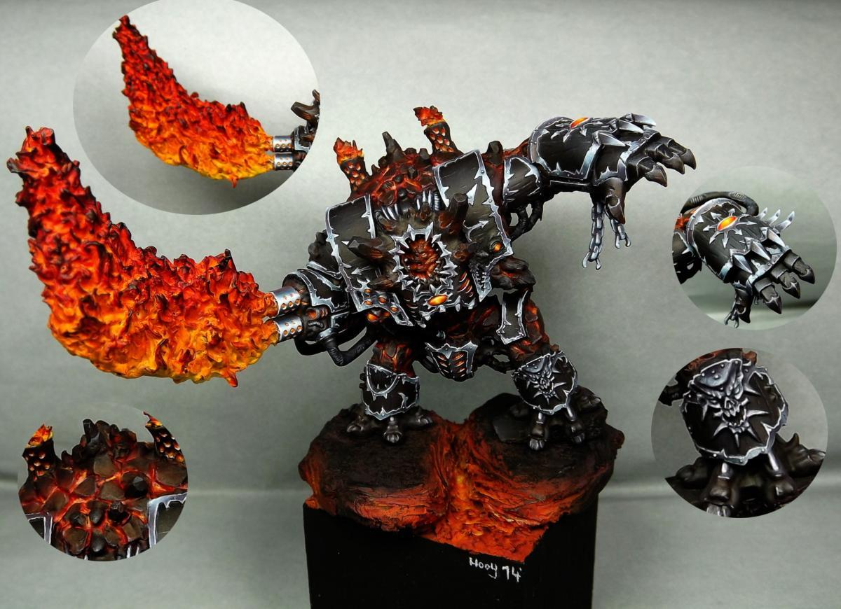 Chaos, Chaos Hellbrute, Chaos Space Marines, Fire, Flames, Helbrute, Lava
