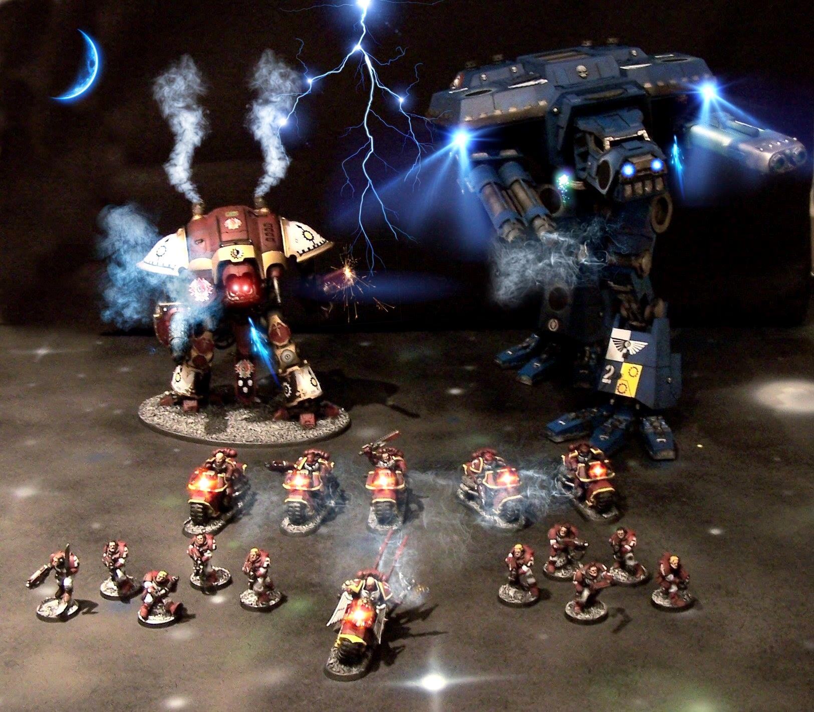 Effects, Imperial, Knights, Space Marines, Titan, Warhound