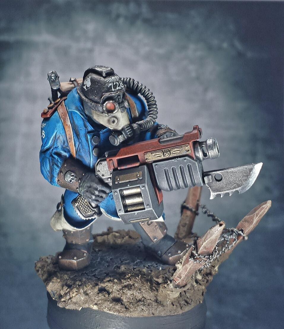 Astra Militarum, Conversion, Death Korps of Krieg, Gas Mask, Greenstuff, Imperial Guard, Ogryns, Work In Progress
