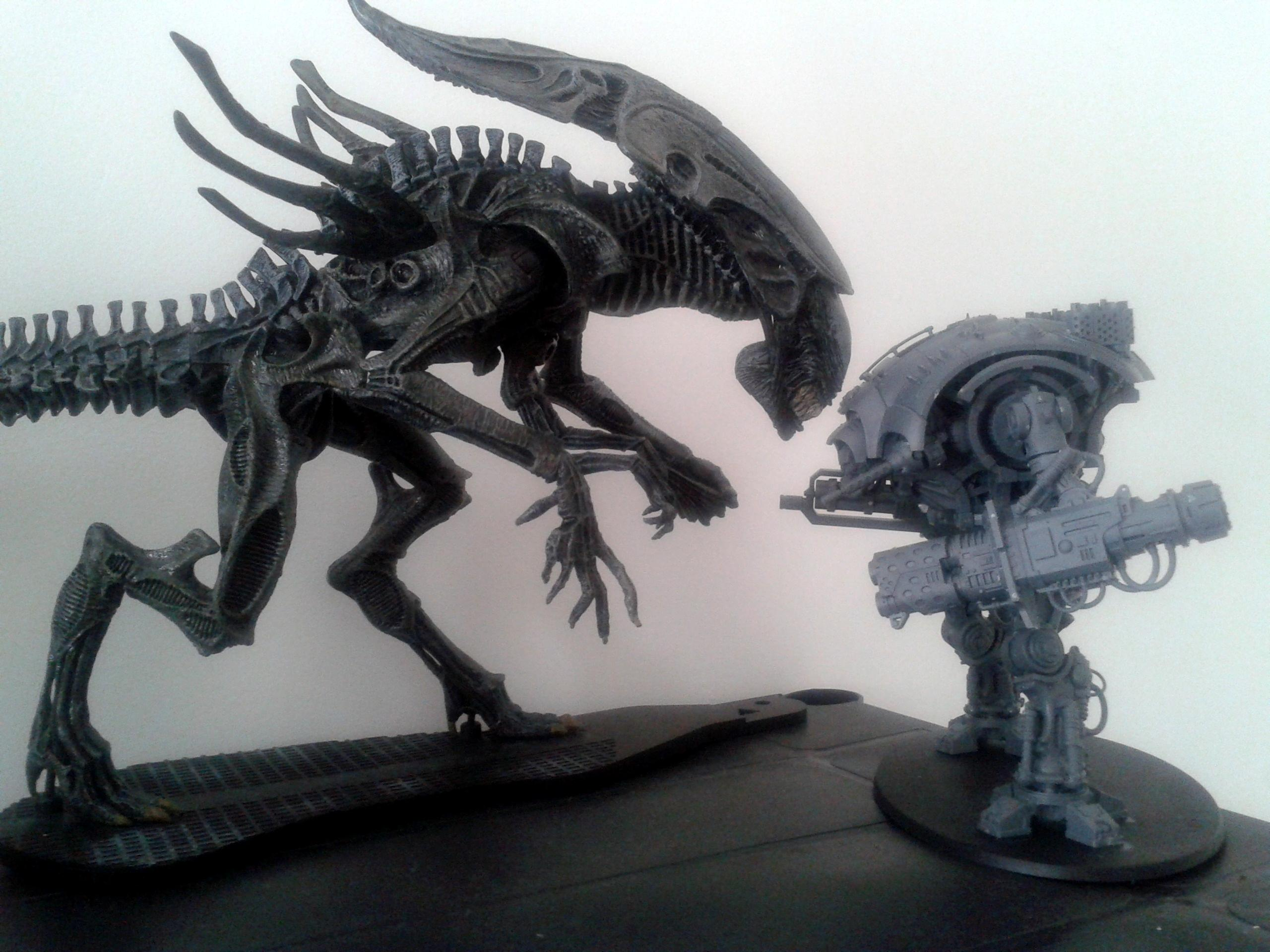 Alien Queen, Bio-titan, Comparison, Imperial Knight, Mcfarlane, Scale, Size, Tyranids