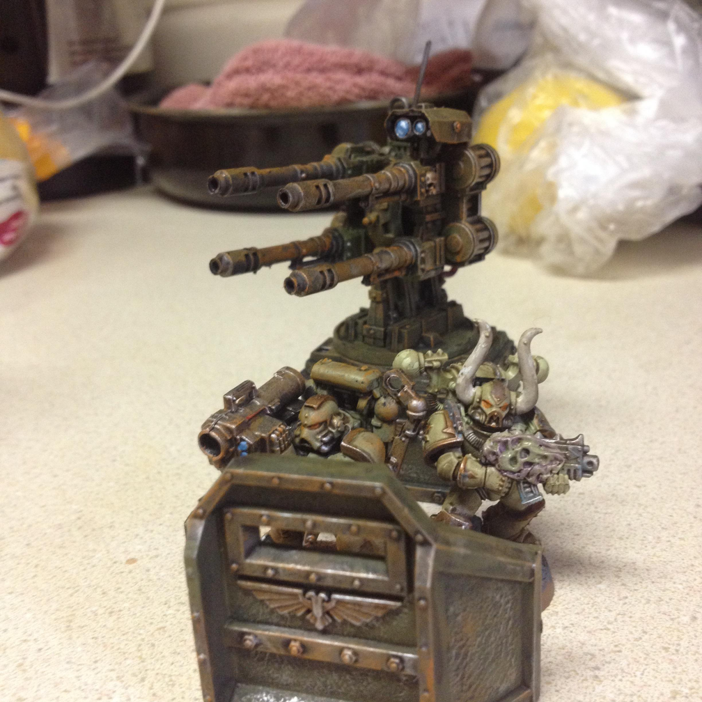 Autocannons, Chaos Space Marines, Emplacement, Nurgle