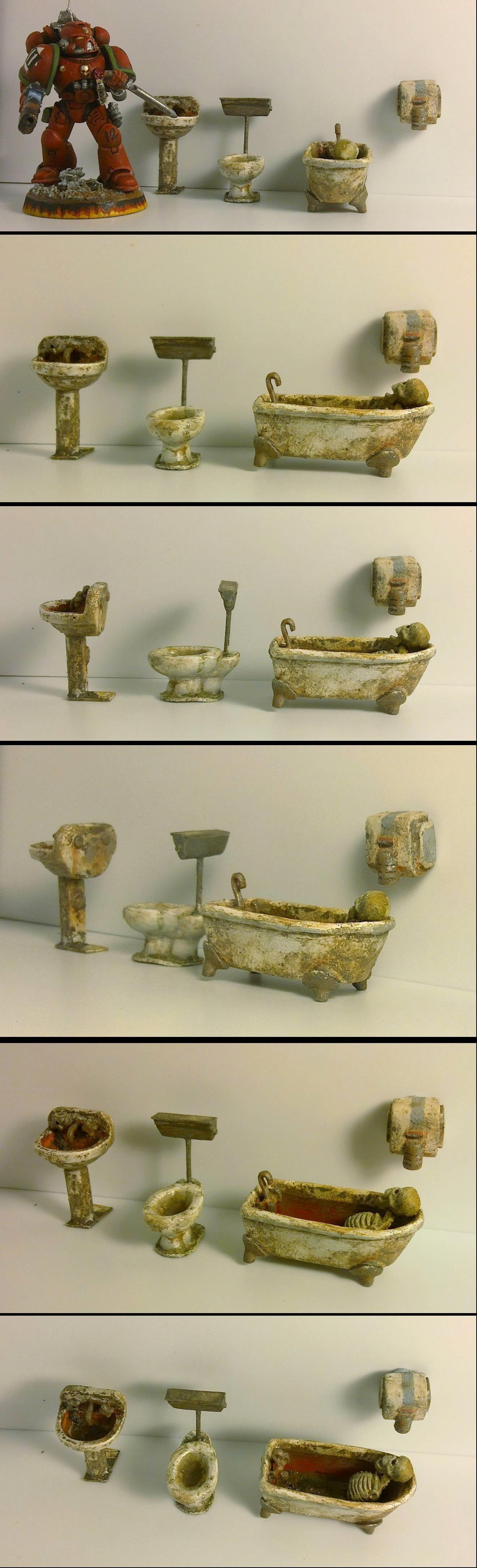Bath, Bathroom, Dirty, Fallout, Fixture, Post-apocalyptic, Ruin, Sink, Terrain, Toilet