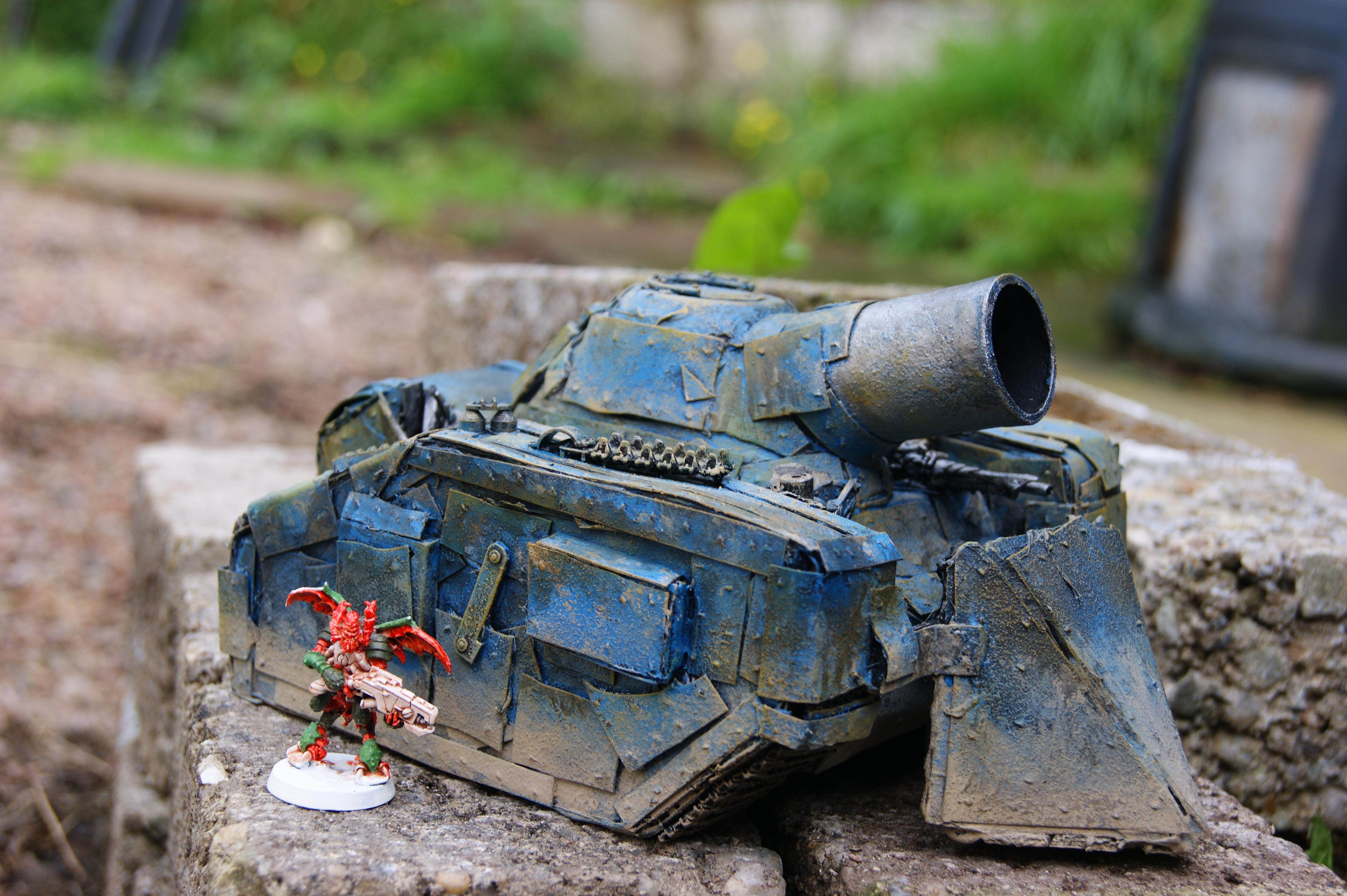 Battlewagon, Boom Gun, Conversion, Dethskullz, Killkannon, Looted Wagon, Orks, Painted, Trukk, Warhammer 40,000