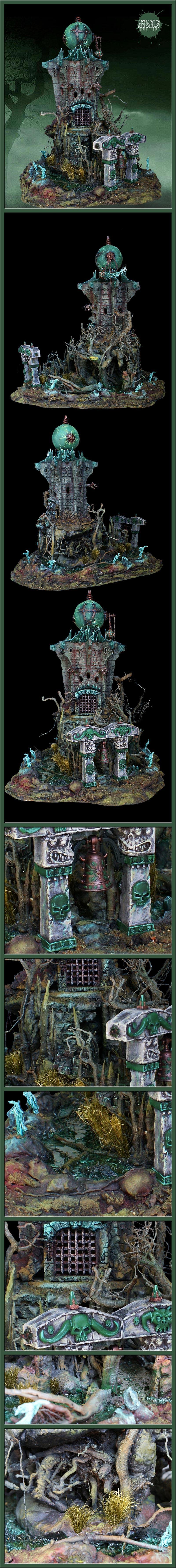 Haunted, Terrain, Tower, Undead, Wargames, Warhammer Fantasy