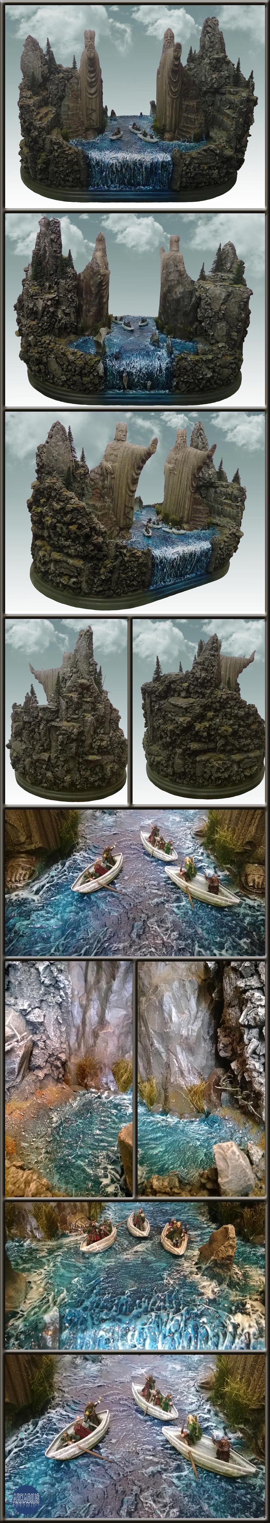 Argonath, Lord Of The Rings, Terrain, Wargames, Warhammer Fantasy