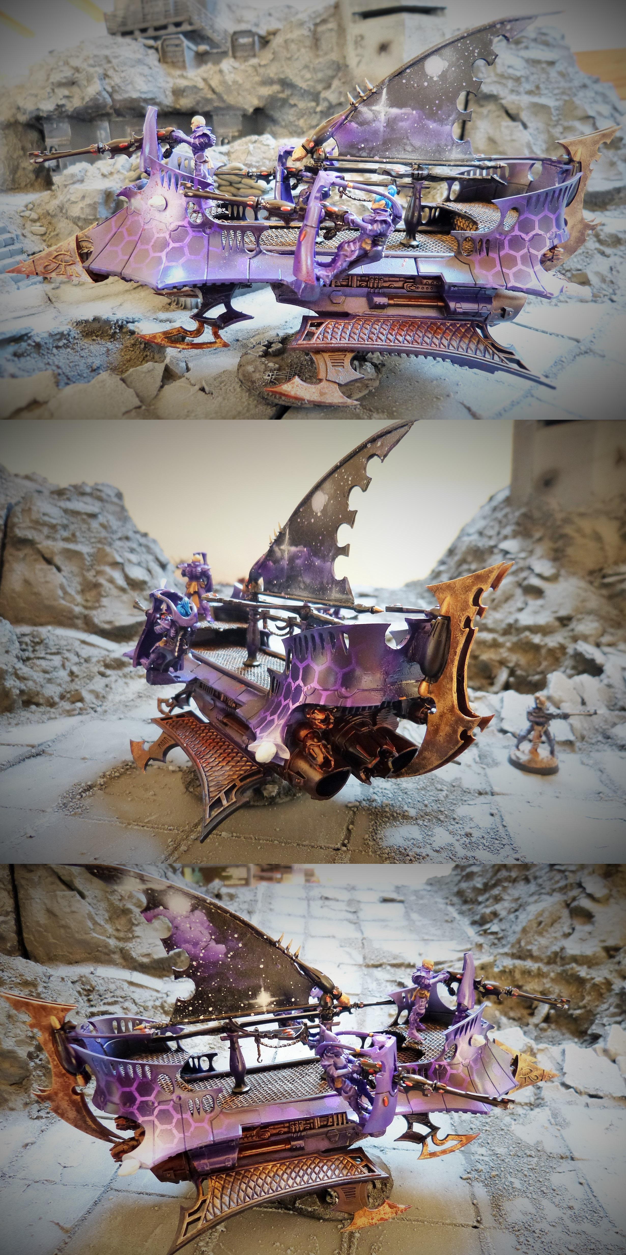 Conversion, Dais, Dais Of Destruction, Dark Eldar, Destruction, Nebula, Object Source Lighting, Reaver, Vect, Warmachine