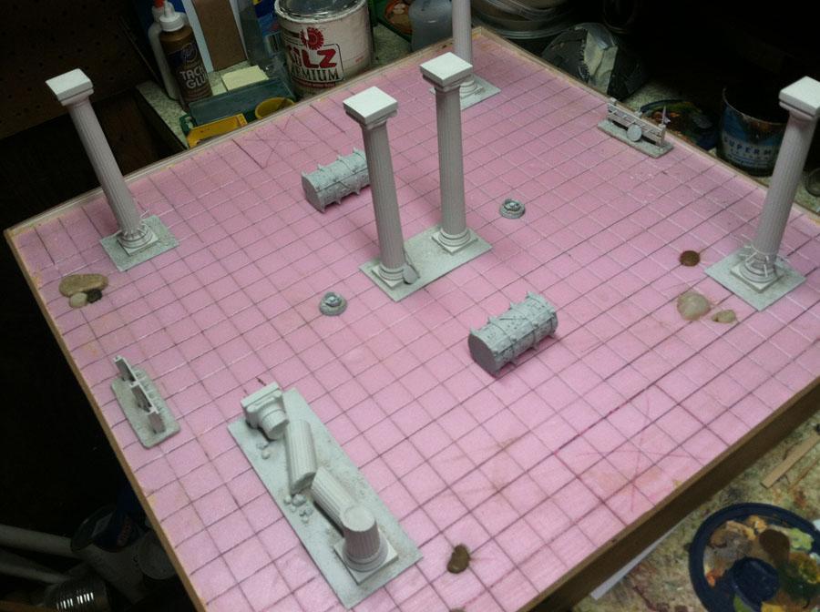 Arena Rex, Pillars, Terrain, Traps
