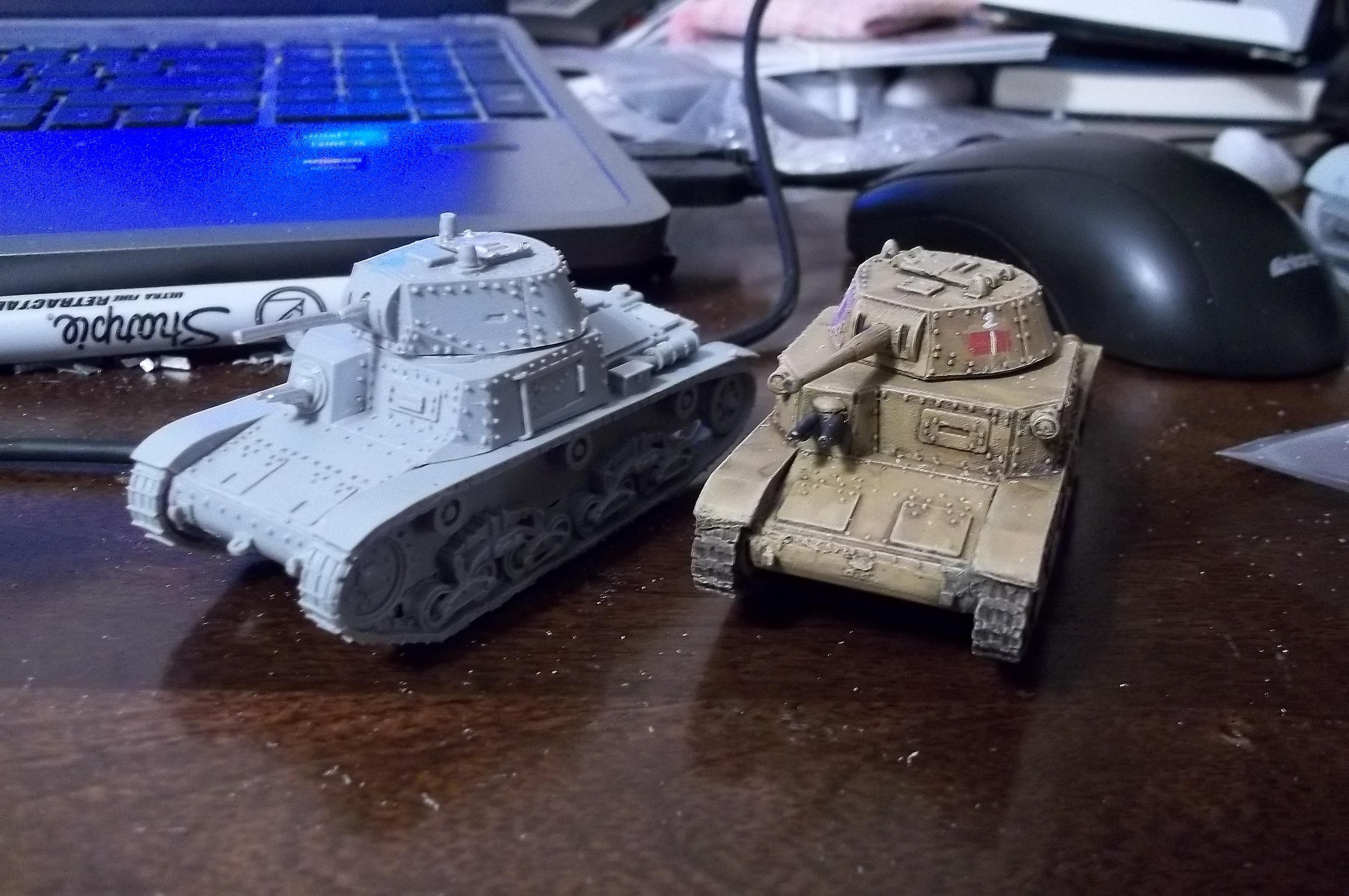 Blitzkrieg Miniatures, Bolt Action, Italian, Tank, Warlord Games, Work In Progress, World War 2