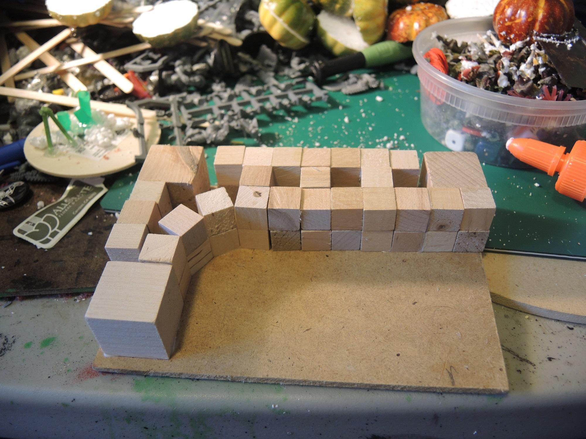 Alien, Commission, Garlic, Hot Glue, Hotglue, Jungle, Straws, Terrain, Tutorial, Waaazag, Waazag, Wood, Work In Progress