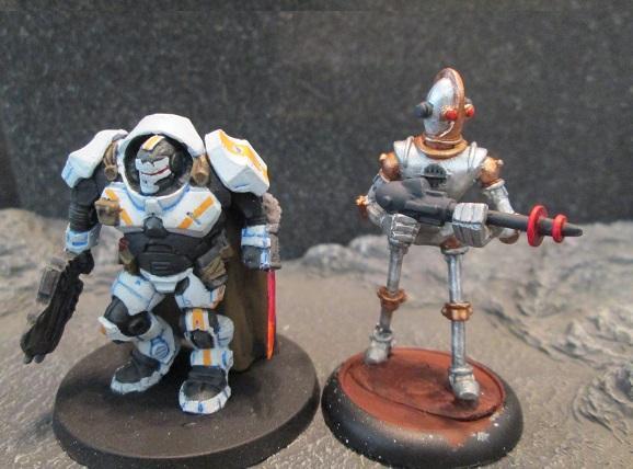 Retro Raygun Robot Infantry size