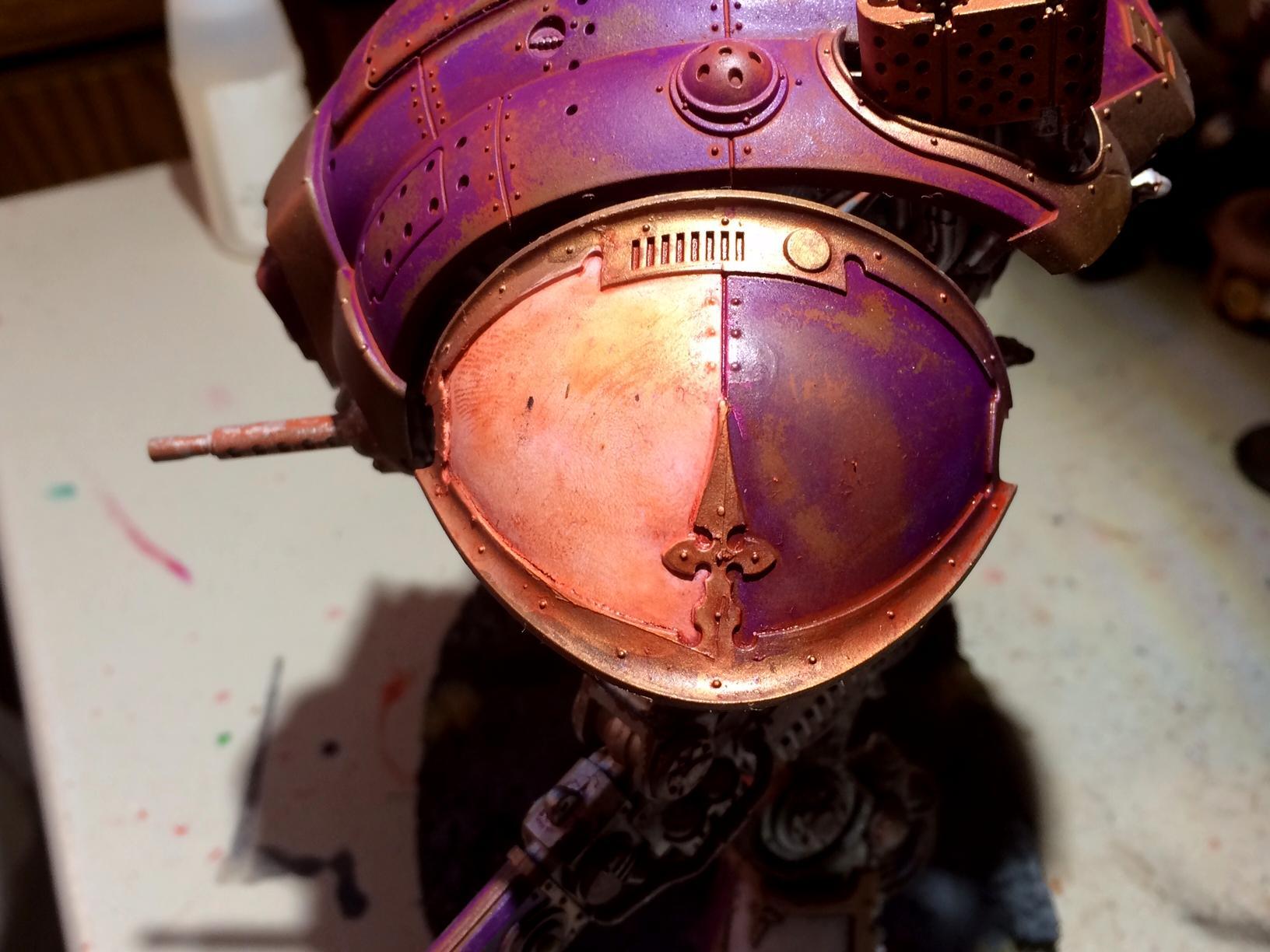 Detail, Imperial Knight, Pip, Purple, Rust, Warhammer 40,000
