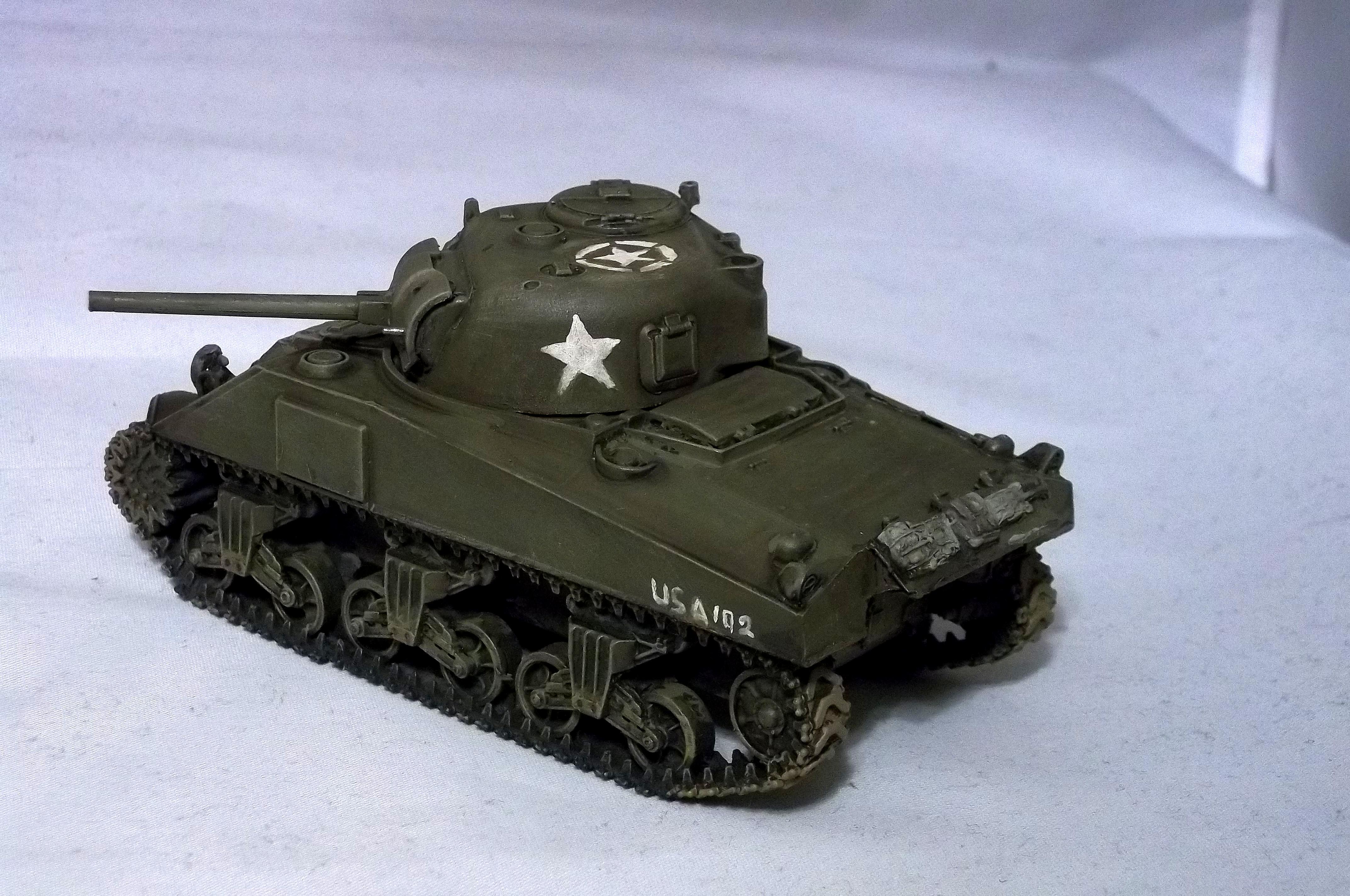1/48th, Blitzkrieg Miniatures, Bolt Action, Sherman Tank, U.s., World War 2