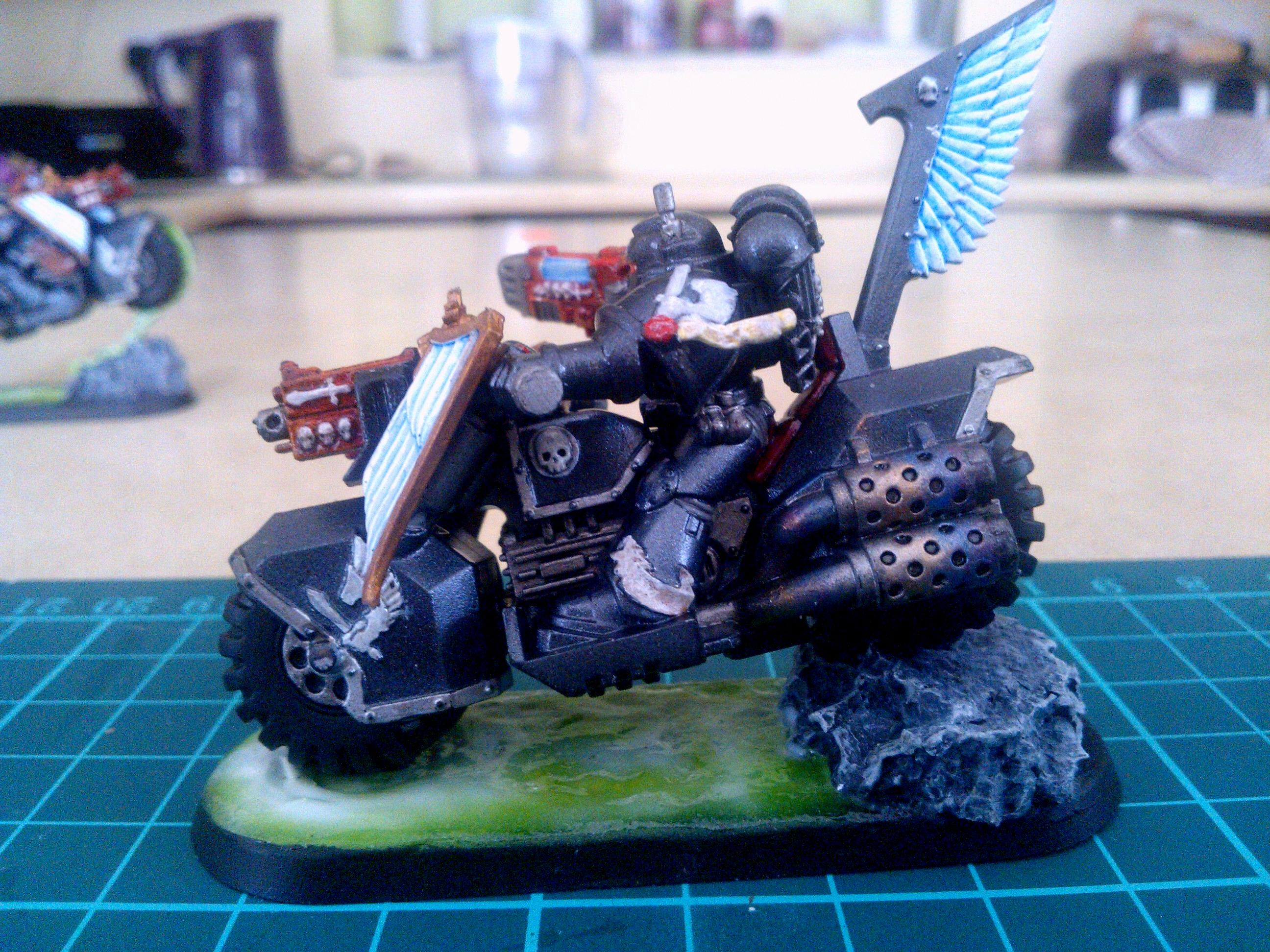 Bike, Dark Vengance, Ravenwing, Slime Base, Space Marines, Warhammer 40,000