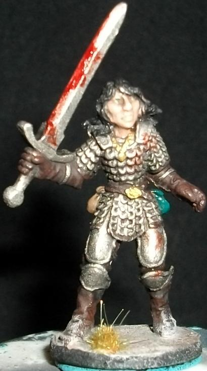 25mm, Dungeons & Dragons, Dungeons And Dragons, Female, Human, Paladin, Ral Partha