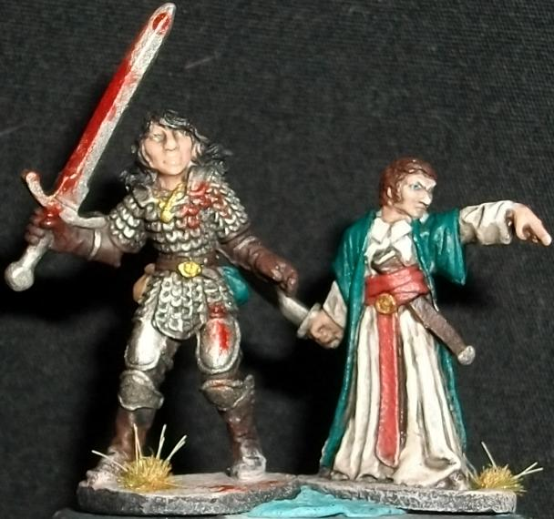 25mm, Armor, Chainmail, Dungeons & Dragons, Dungeons And Dragons, Female, Fighter, Human, Mage, Male, Paladin, Ral Partha, Robes
