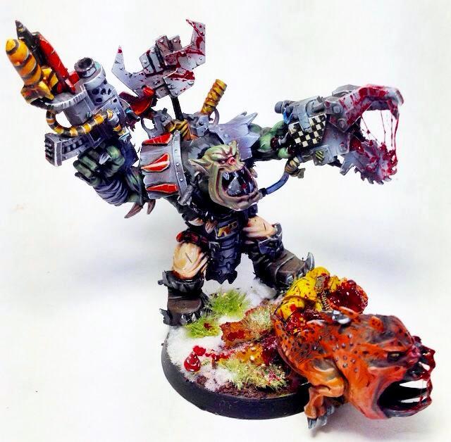 Blood, Gore, Kombi, Nob, Orks, Power Klaw, Squigs, Warboss, Warboss Grukk Face-rippa, Warhammer 40,000