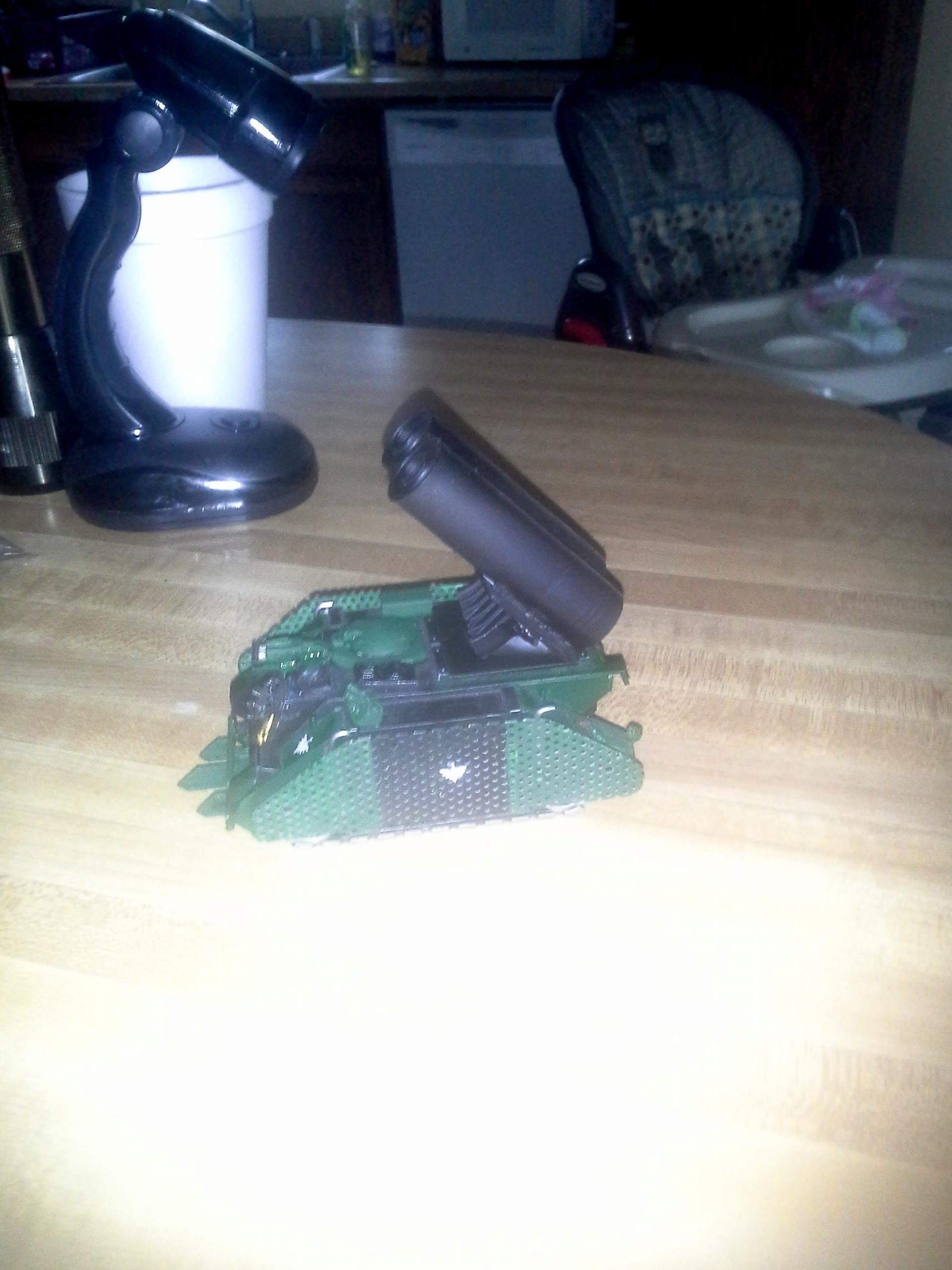 Scratchbuilt Whirlwind Turret on Tank