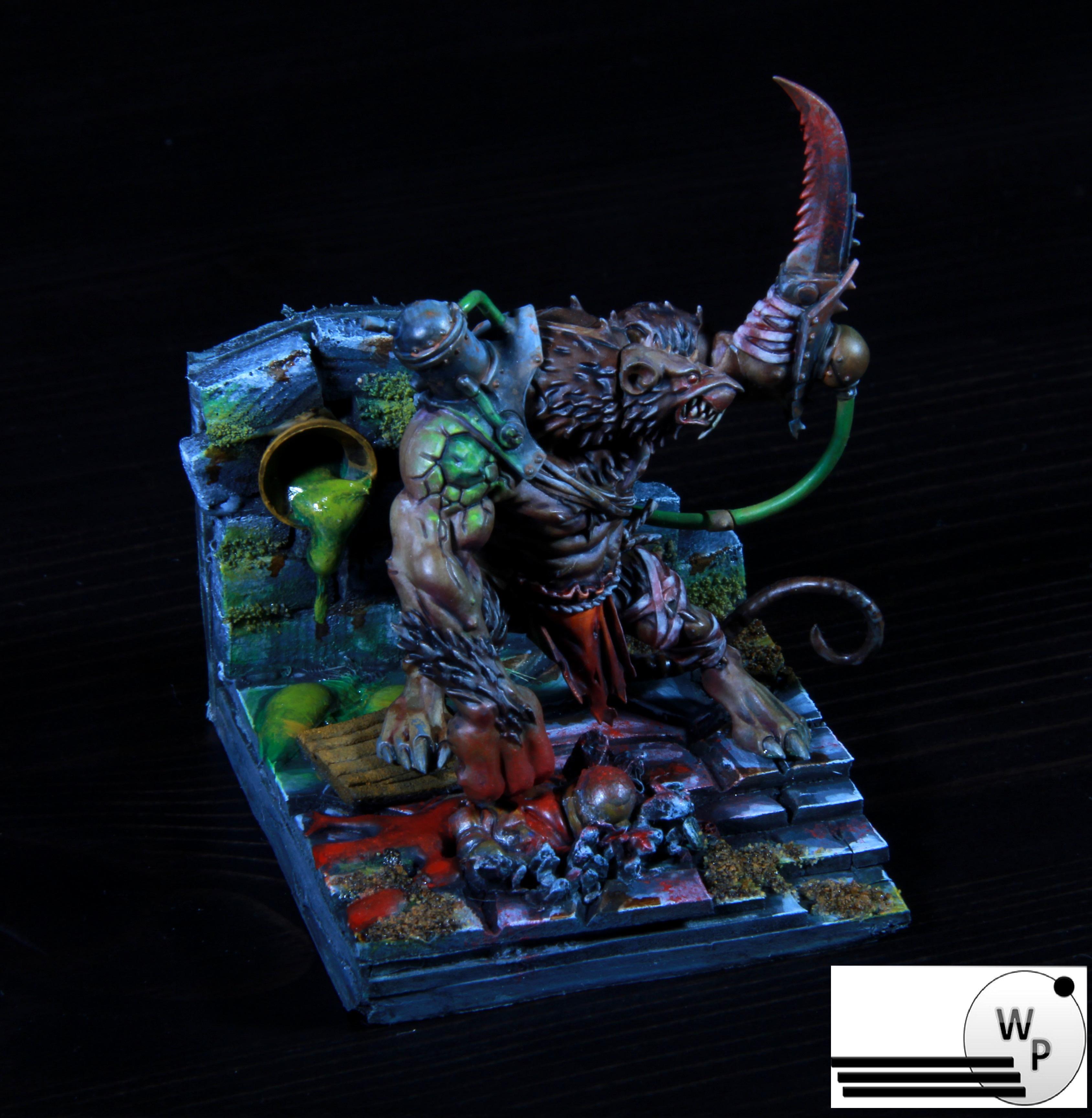 Eavy, Golden Tom, Metal, Ogres, Paintjob, Rat, Skaven, Warhammer 40,000, Warhammer Fantasy