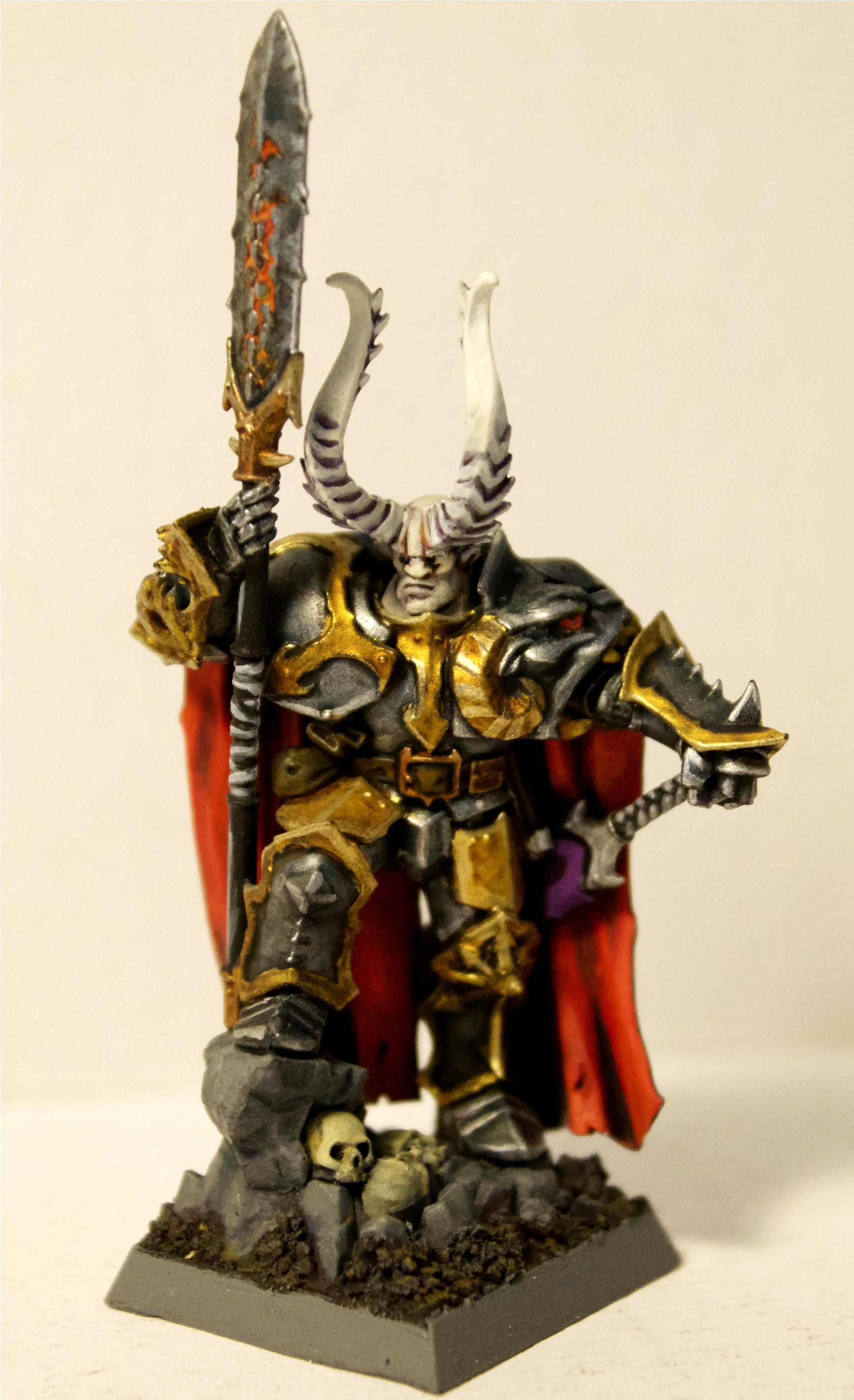 Armor, Base, Cape, Chaos, Chaos Lord, Daemons, Hero, Horns, Lord, Warhammer Fantasy, Warriors Of Chaos