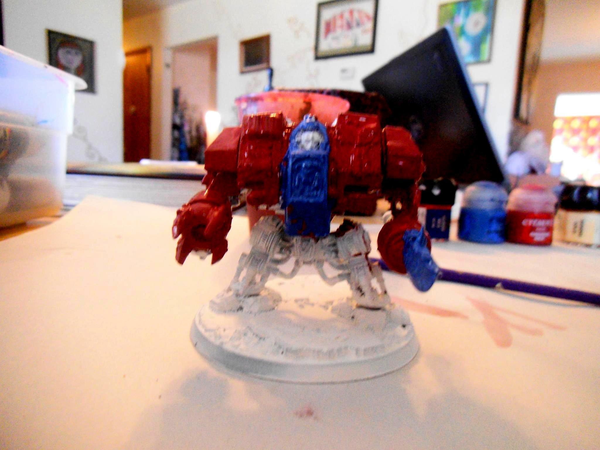 Blood Angels, Dreadnought, Space Marines, Warhammer 40,000, Wip. Warhammer 40k