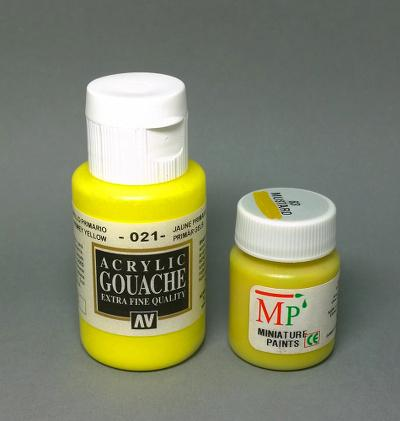 Vallejo acrylic gouache yellow