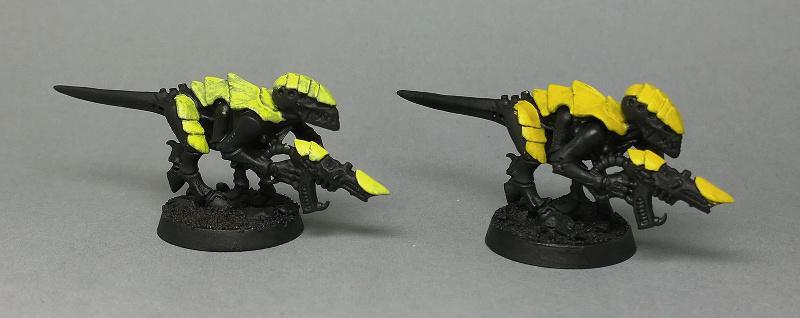 Acrylic gouache yellow layer 2