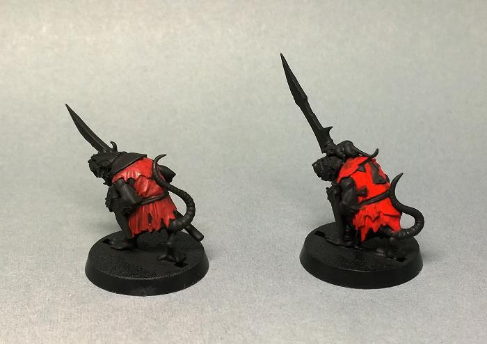 Acrylic gouache red layer 1