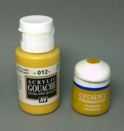 Vallejo acrylic gouache ochre