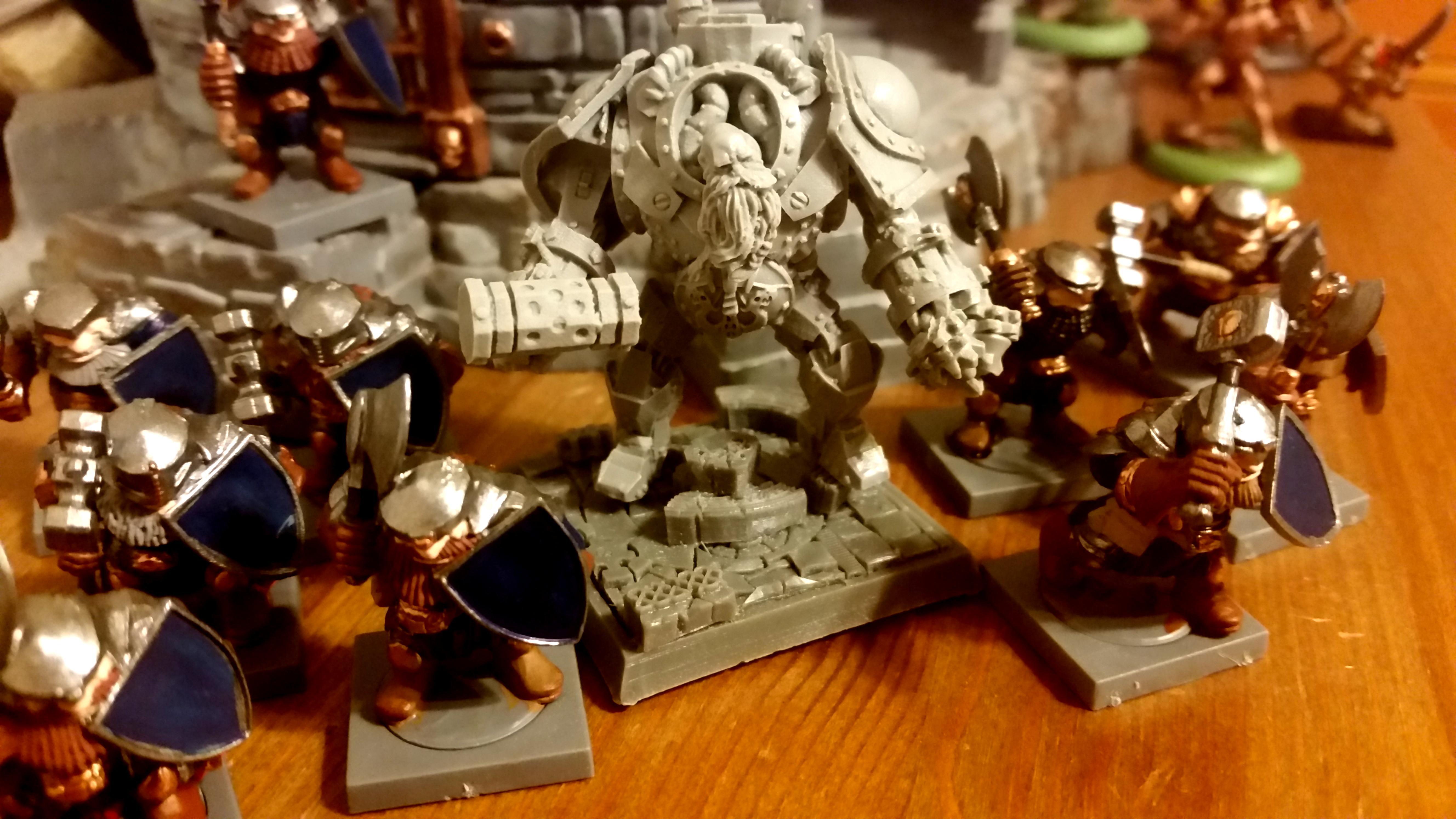 Dwarves, Mantic, Metal Beards, Titan Forge