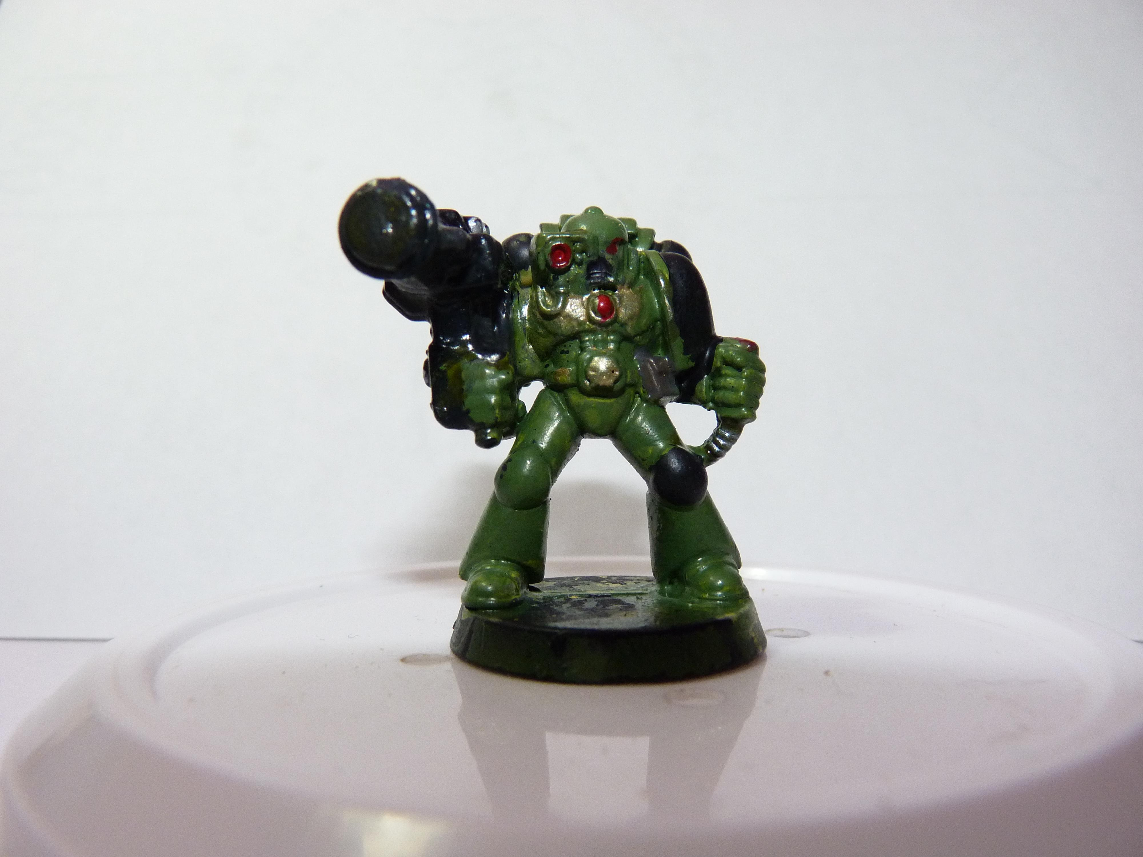 2nd Edition, First Try, Models, Poorly Done, Salamanders, Space Marines, Tactical Squad, Thin Your Paints